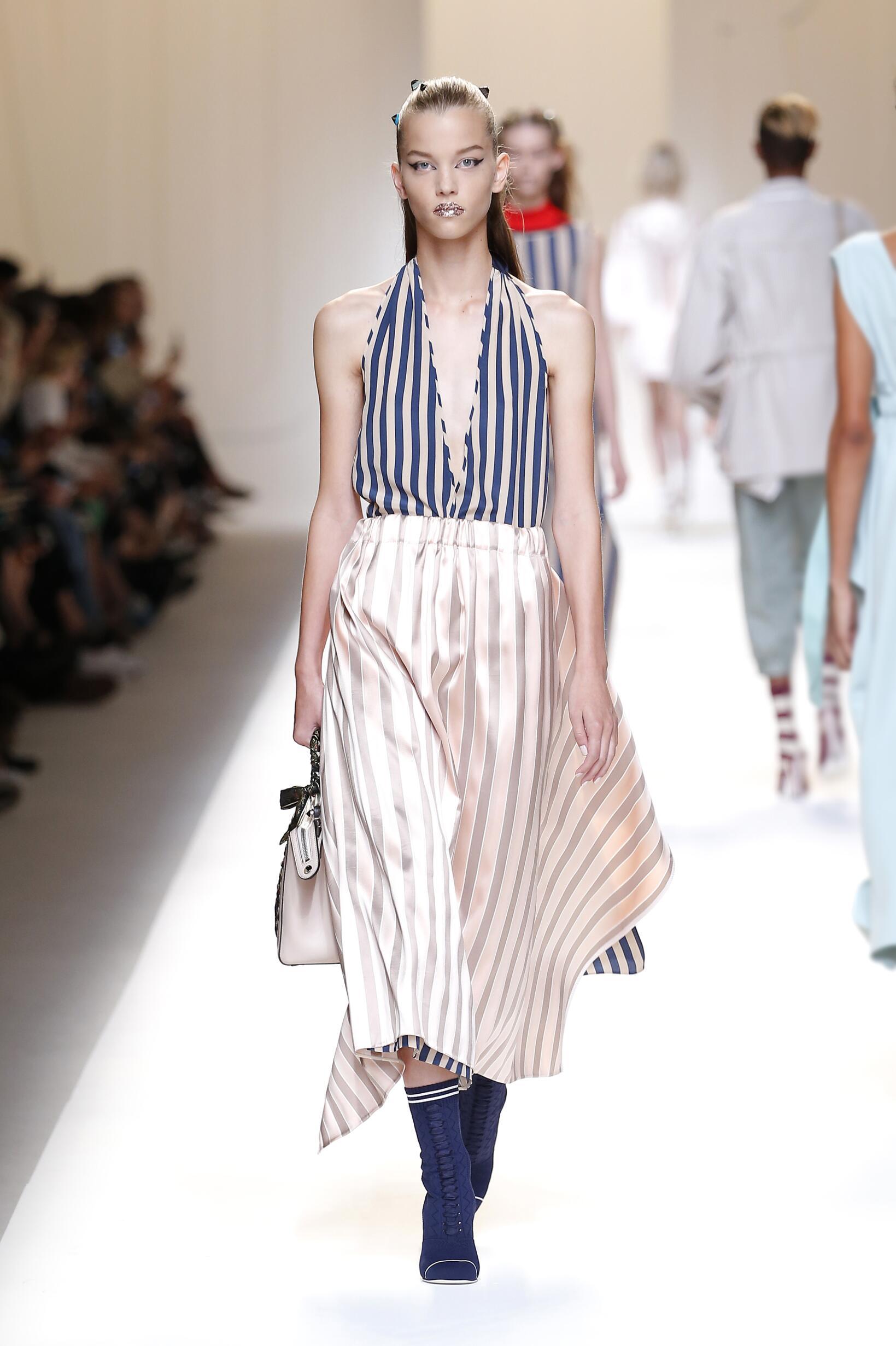 Fashion Woman Model Fendi Catwalk