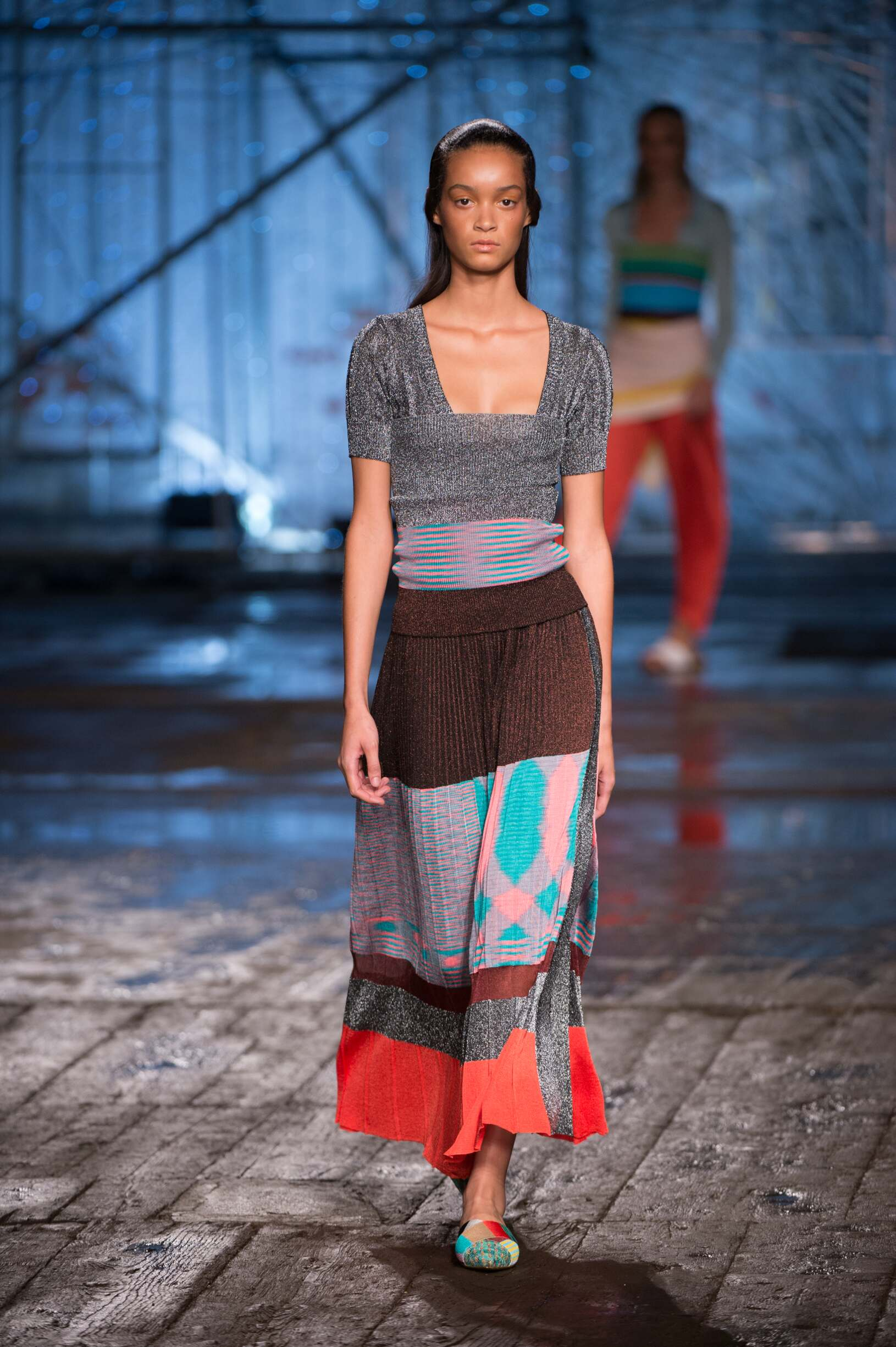 Fashion Woman Model Missoni Catwalk