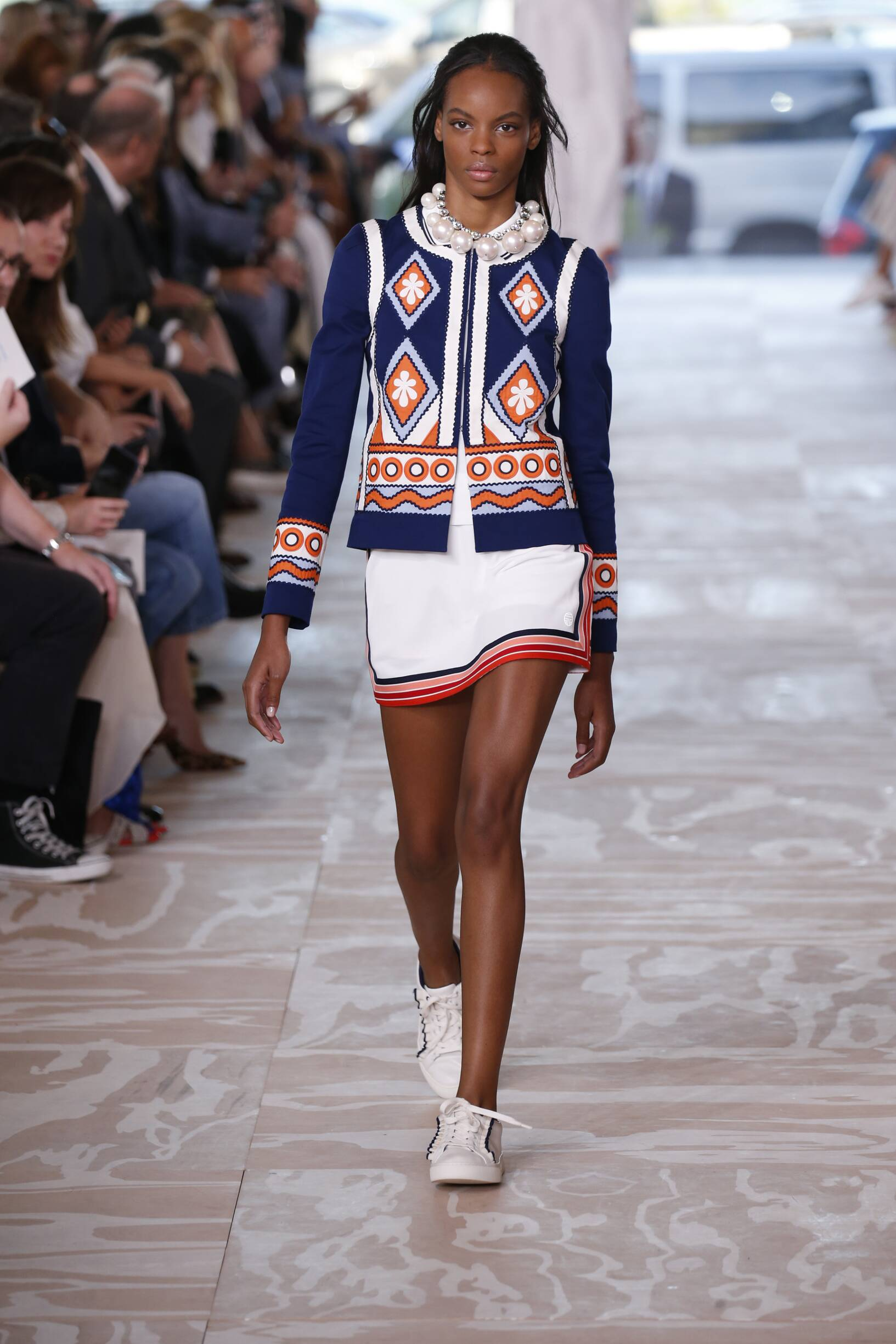 Fashion Woman Model Tory Burch Catwalk