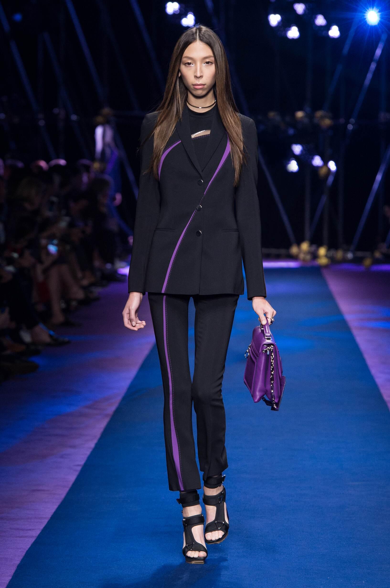 Fashion Woman Model Versace Catwalk