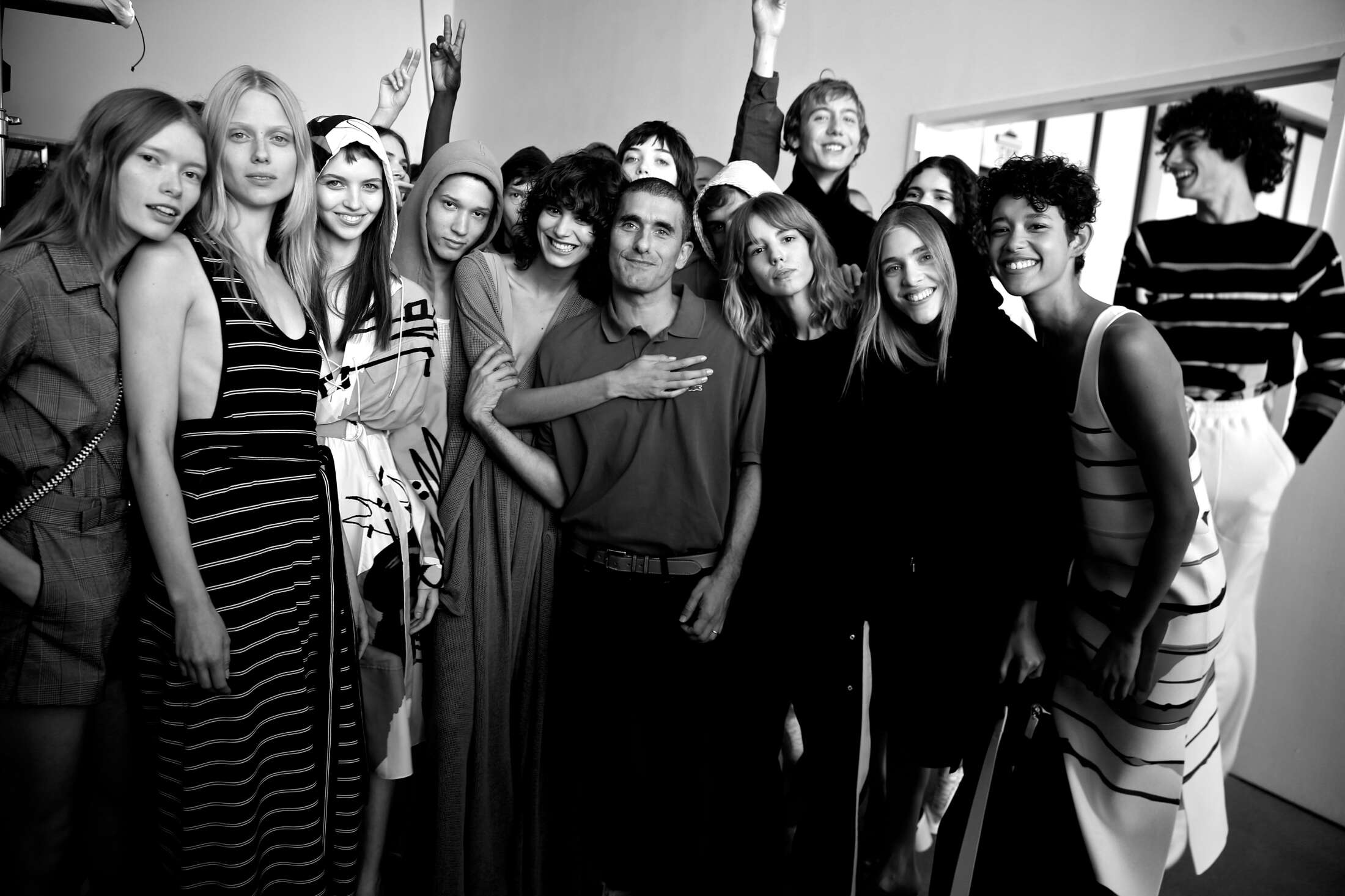 Felipe Oliveira Baptista and Models Lacoste Backstage
