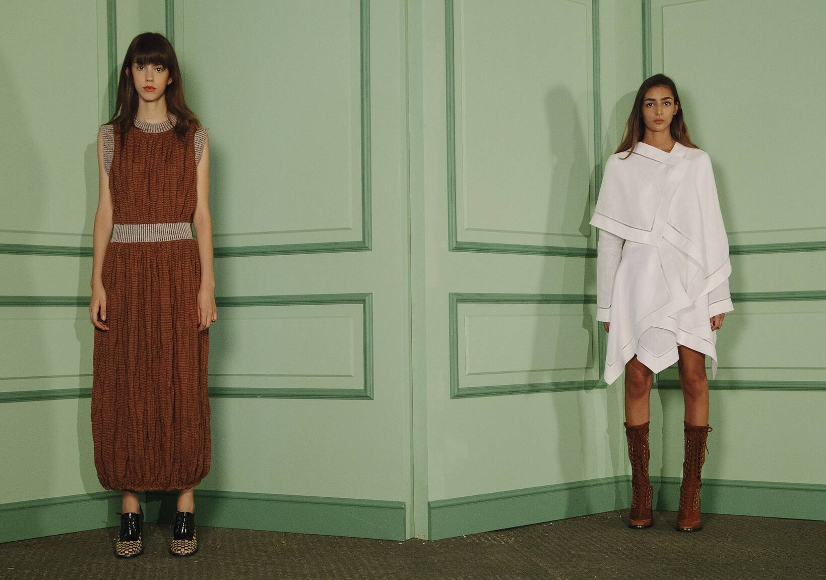 J.W. Anderson Backstage Fashion Models Womenswear