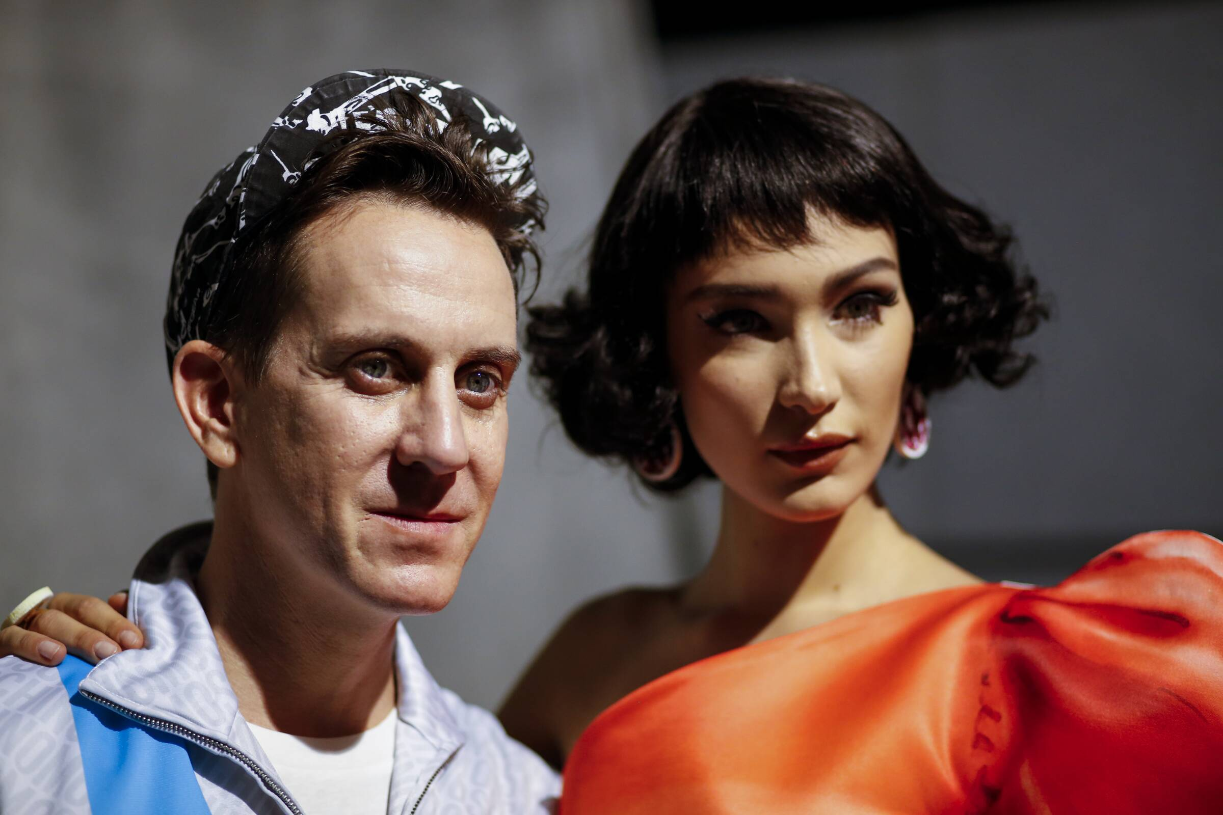Jeremy Scott and Model