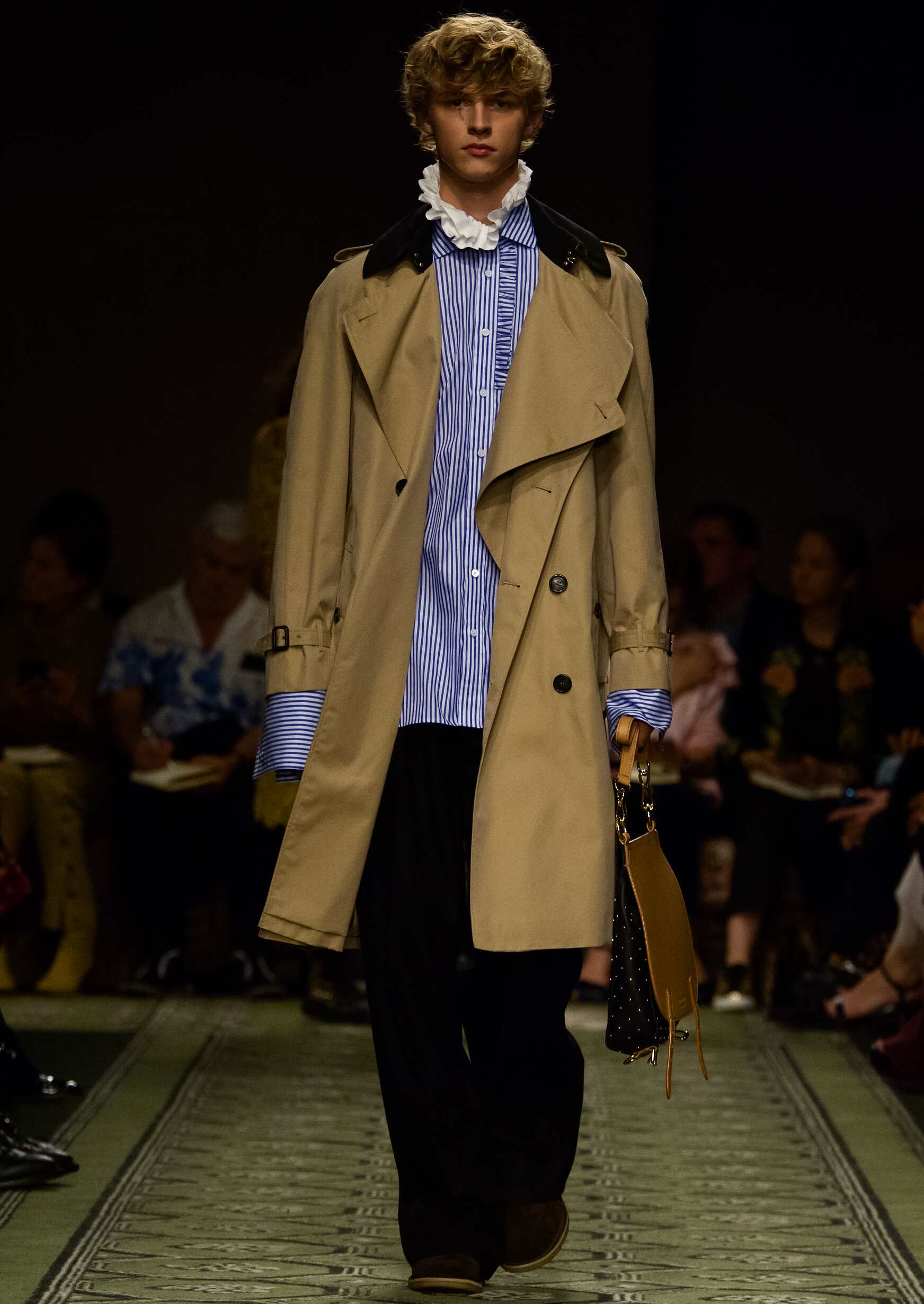 Male Model Burberry Catwalk London Fashion Week Runway