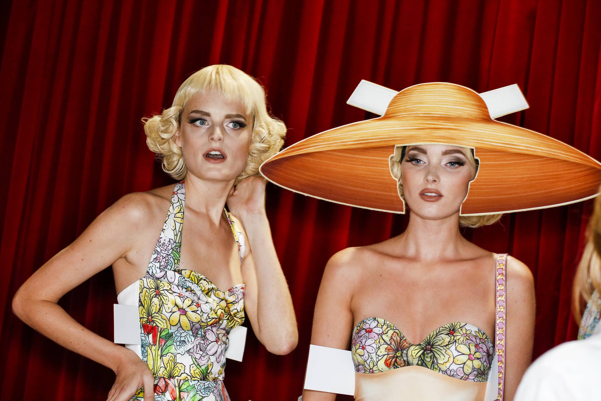 Models Backstage Moschino Milan