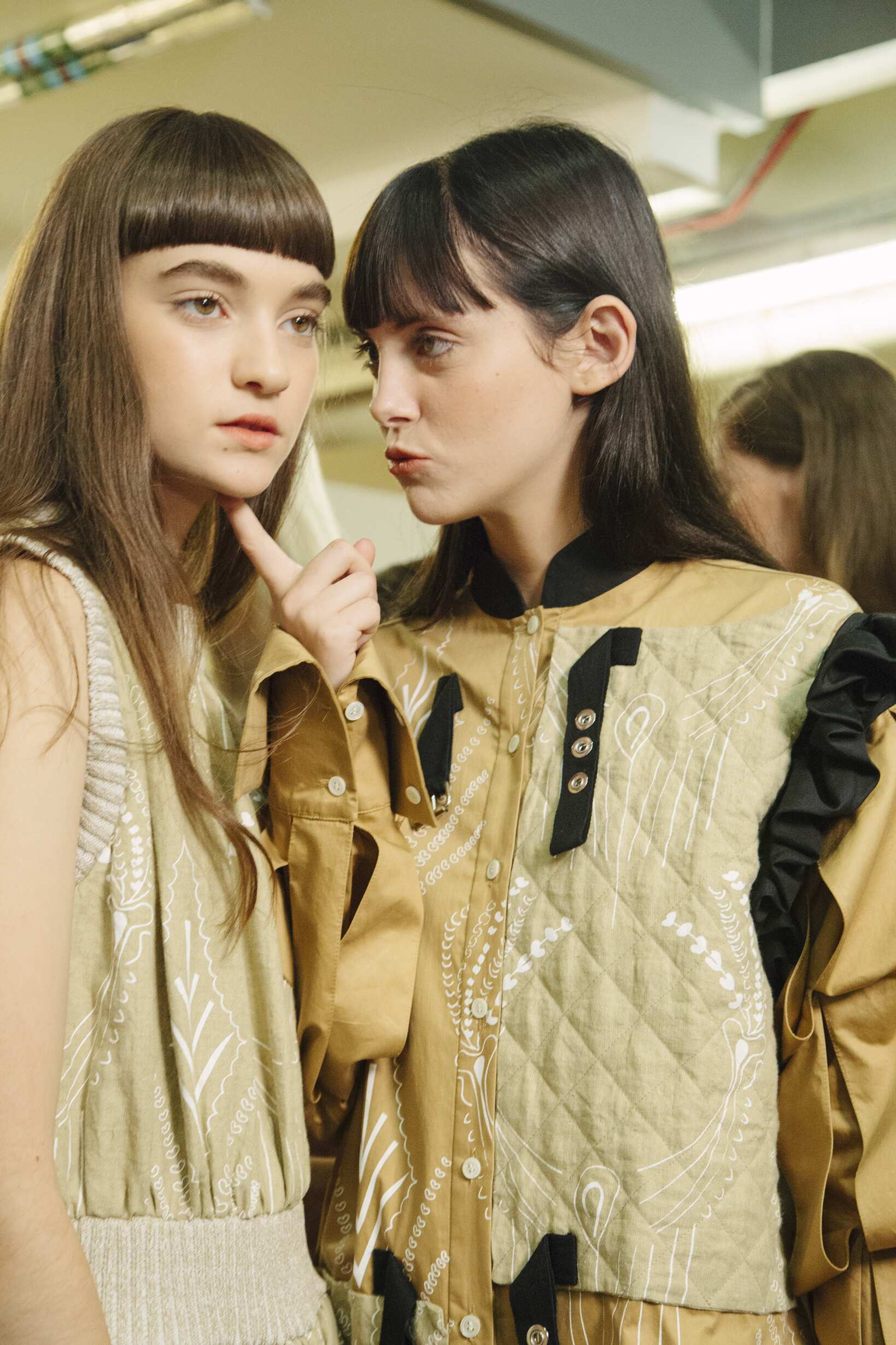 Models J.W. Anderson Backstage