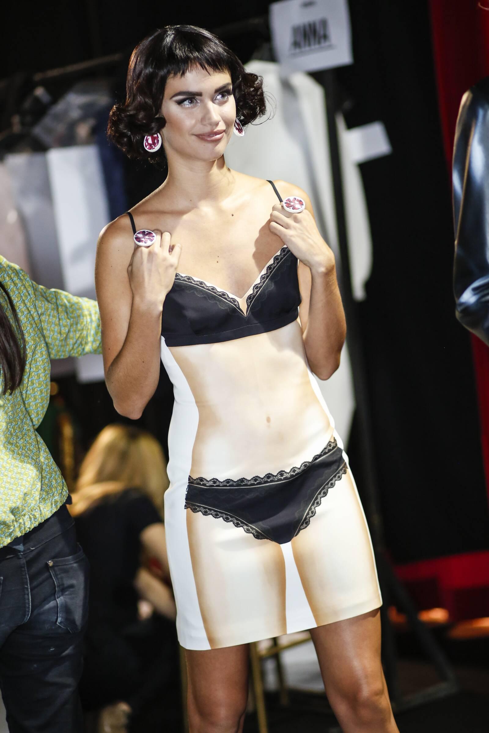 Moschino Backstage Fashion Dress Milan Fashion Week