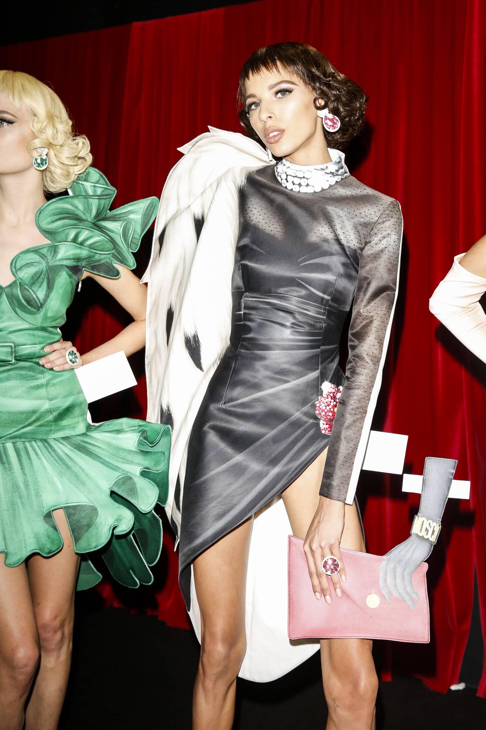 Moschino Backstage Fashion Model Womenswear Milan Fashion Week