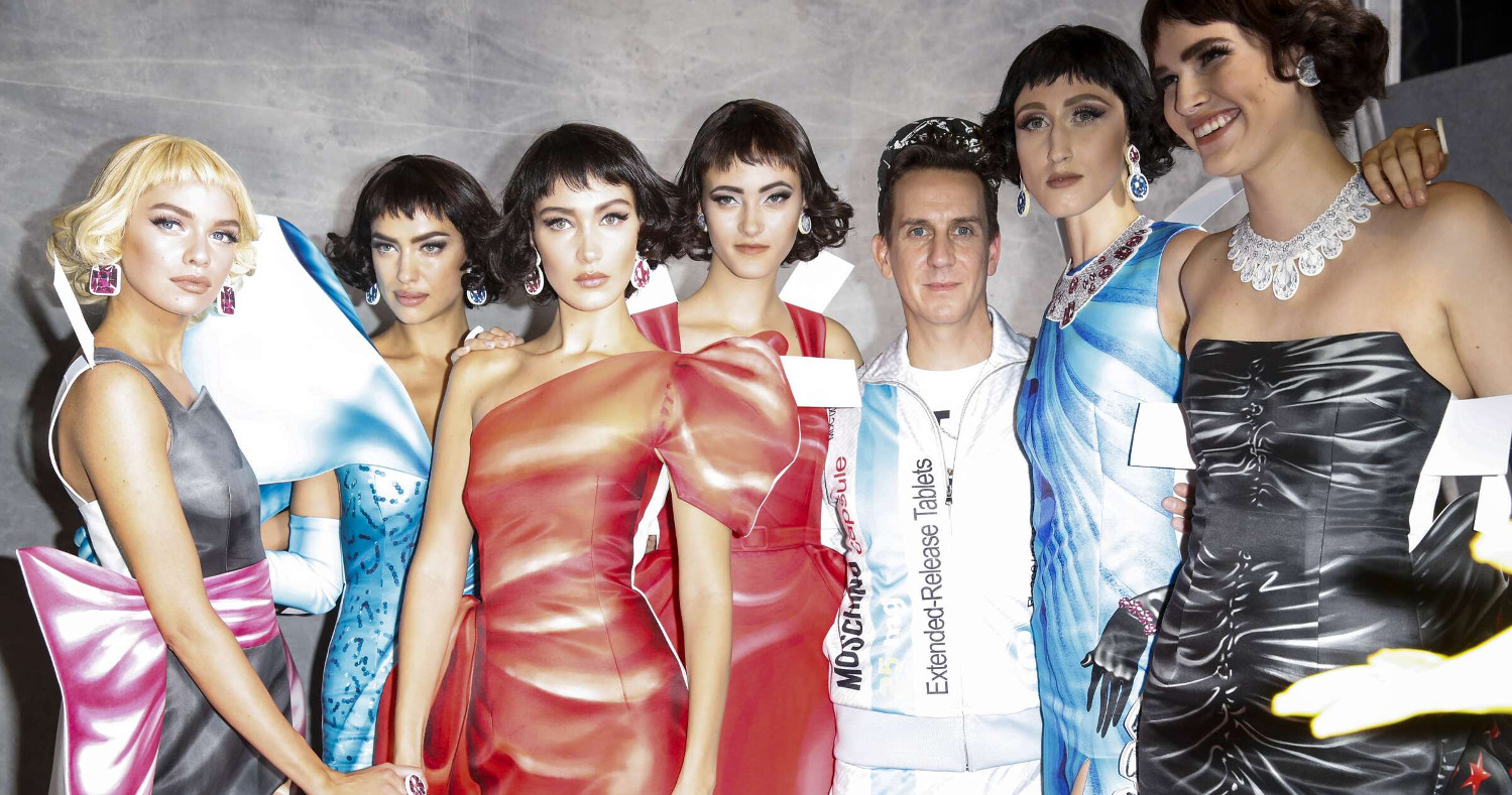 Moschino Backstage Fashion Models Womenswear Milan