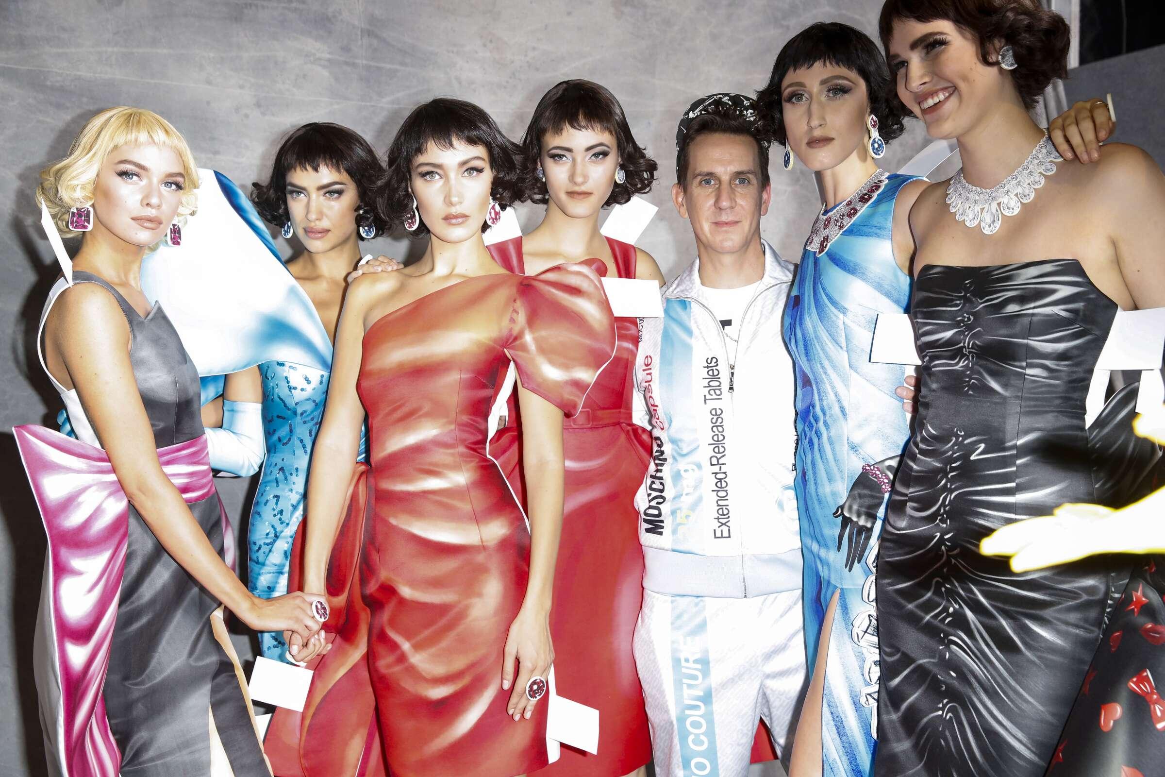 Moschino Backstage Fashion Models Womenswear