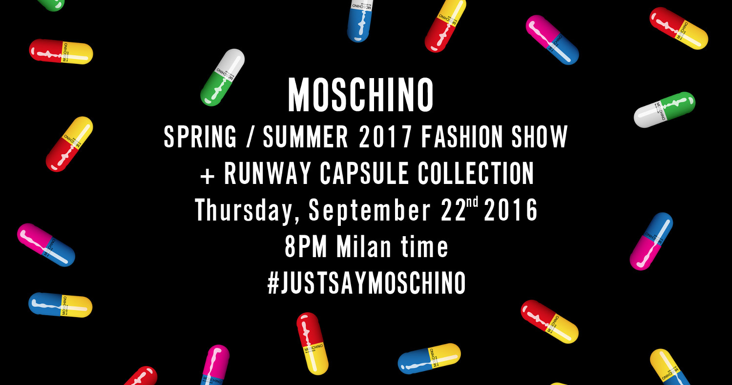 Moschino Spring Summer 2017 Women's Fashion Show Live Streaming