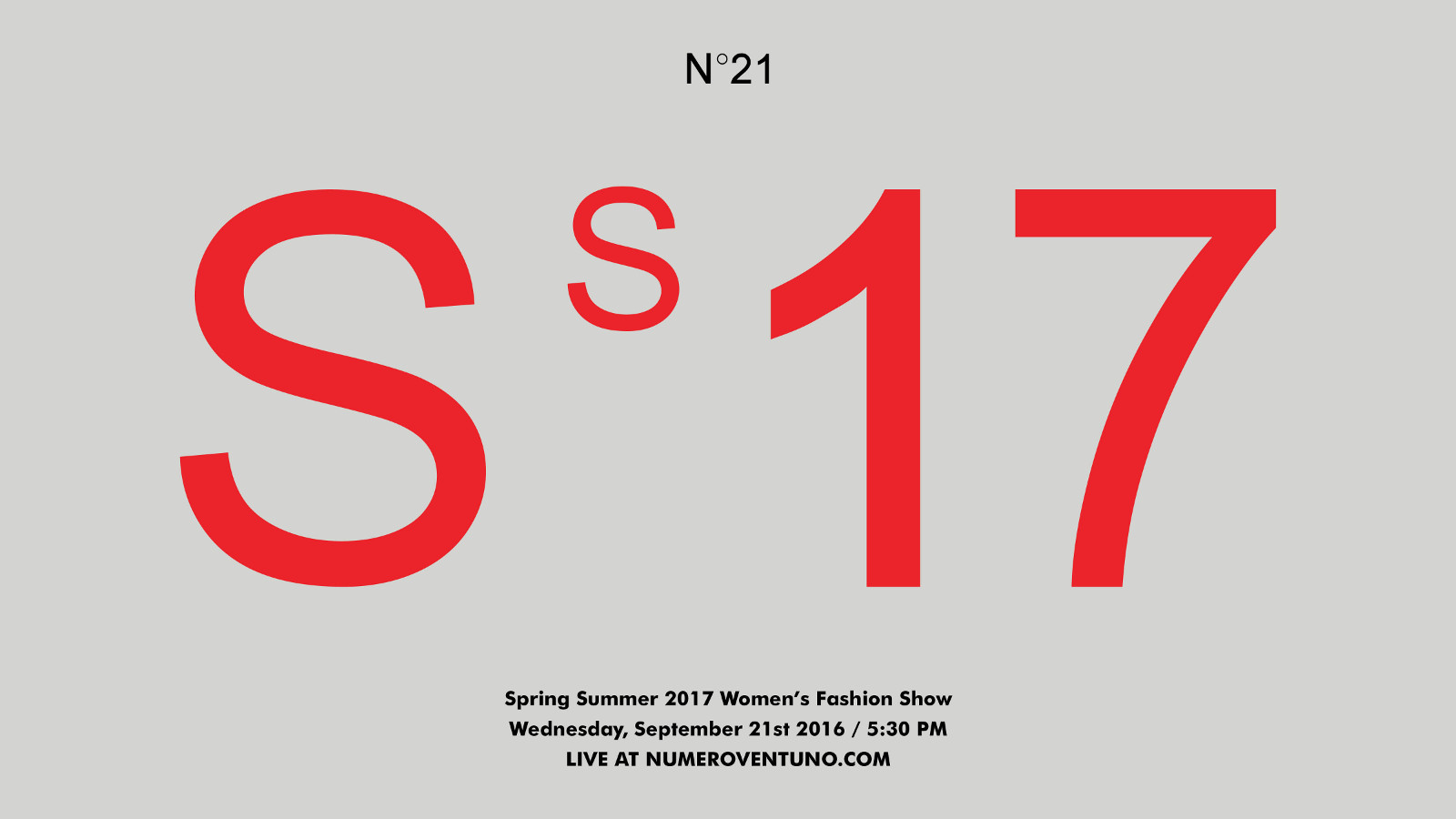 N°21 Spring Summer 2017 Women's Fashion Show Live Streaming Milan