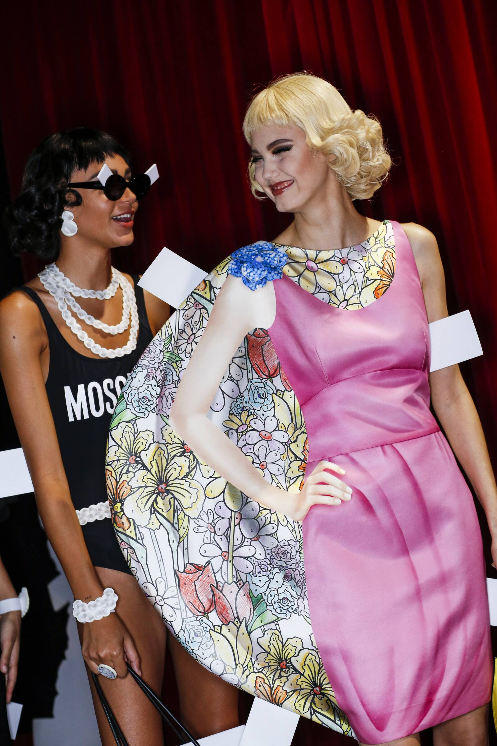 Spring Summer Models Backstage Moschino Milan Fashion Week