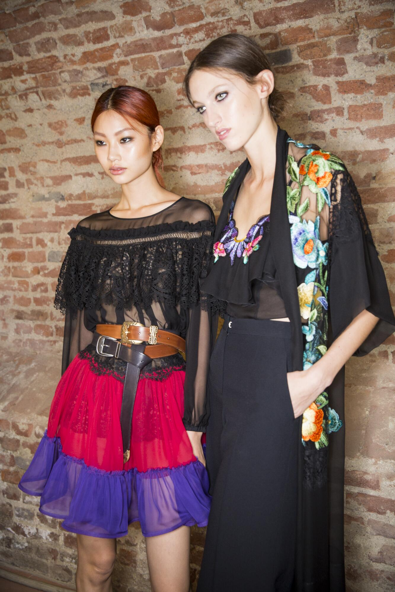 Womenswear Backstage Alberta Ferretti Models