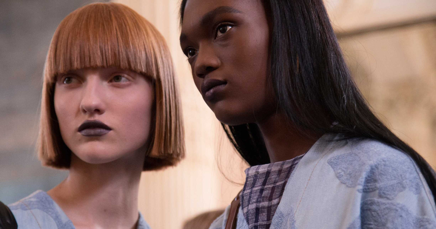 Acne Studios Backstage Fashion Models Paris Fashion Week