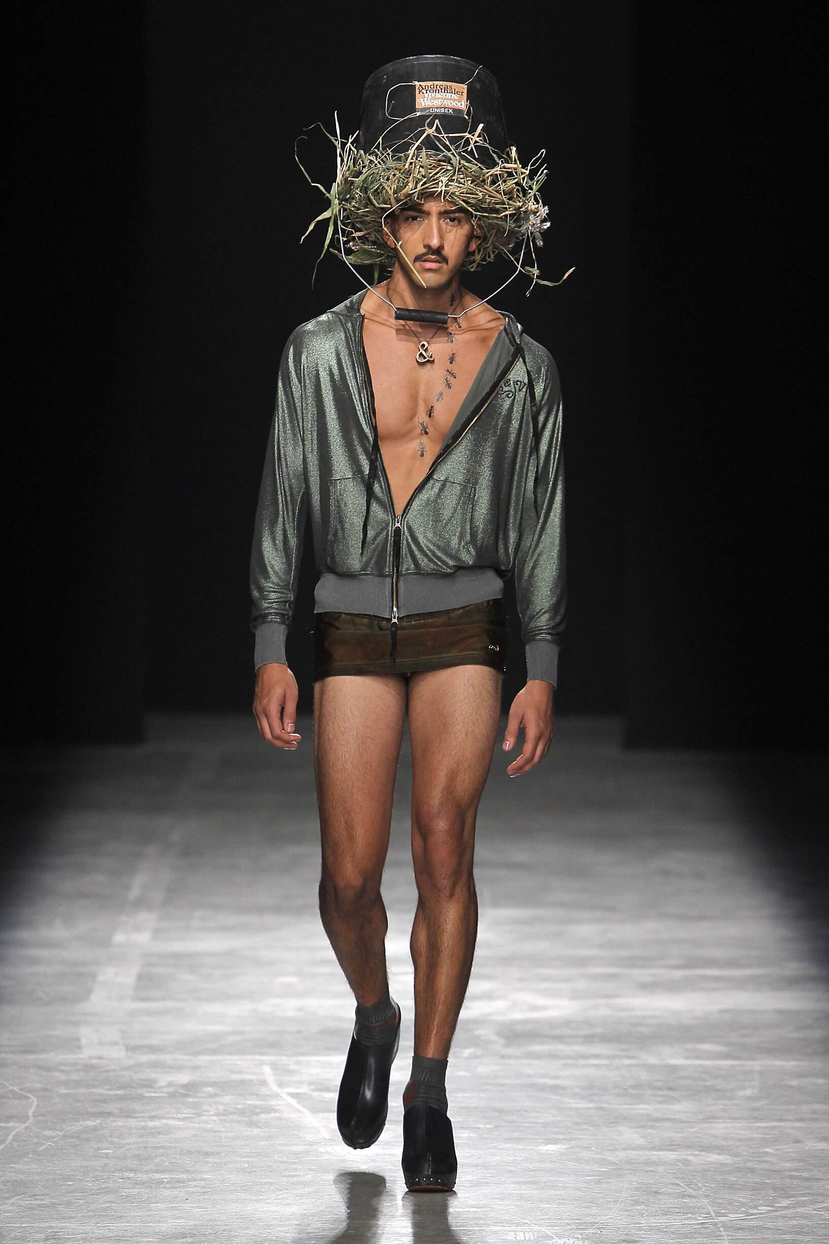 Andreas Kronthaler for Vivienne Westwood Fashion Show Man Model