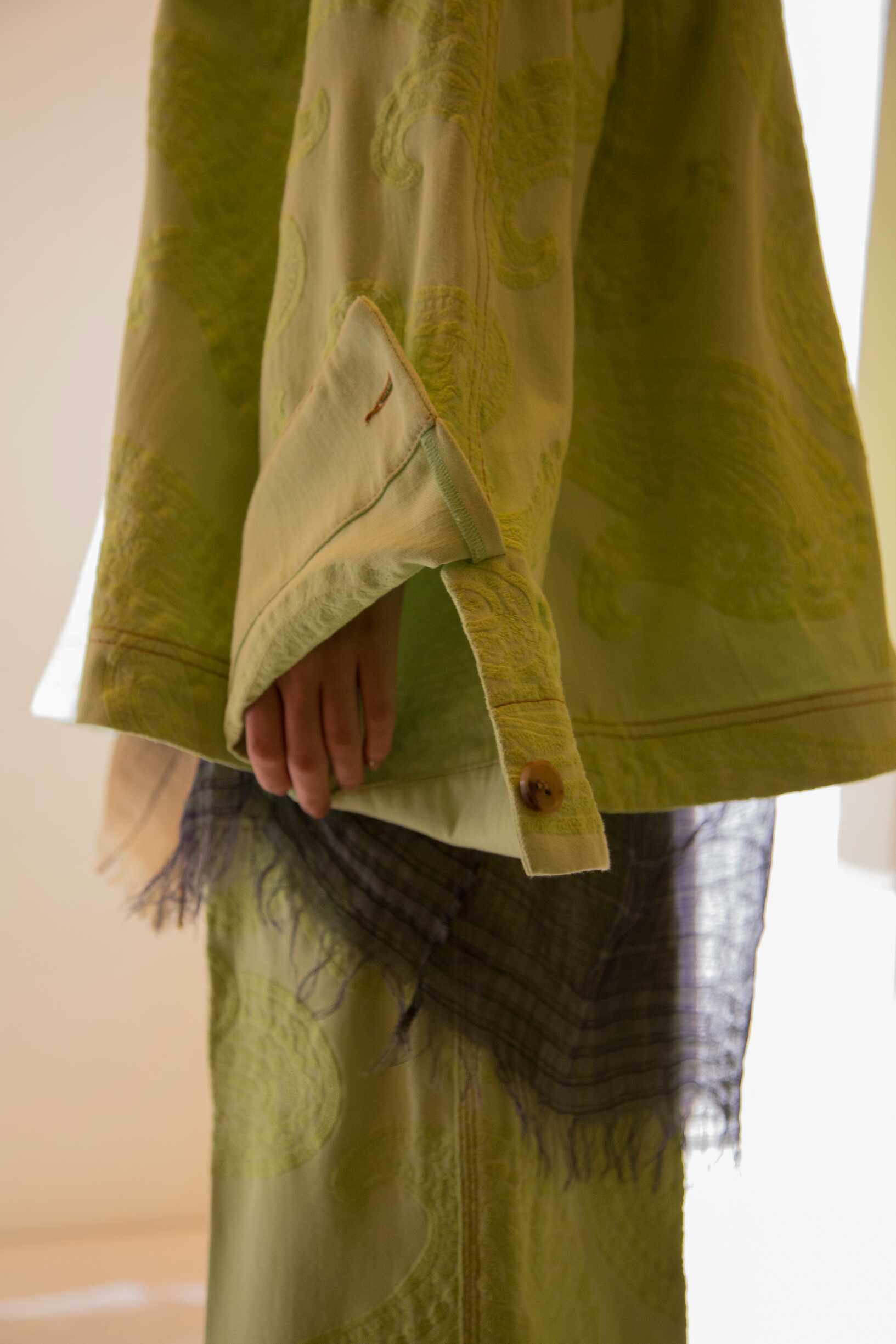 Backstage Acne Studios Fashion Show Detail