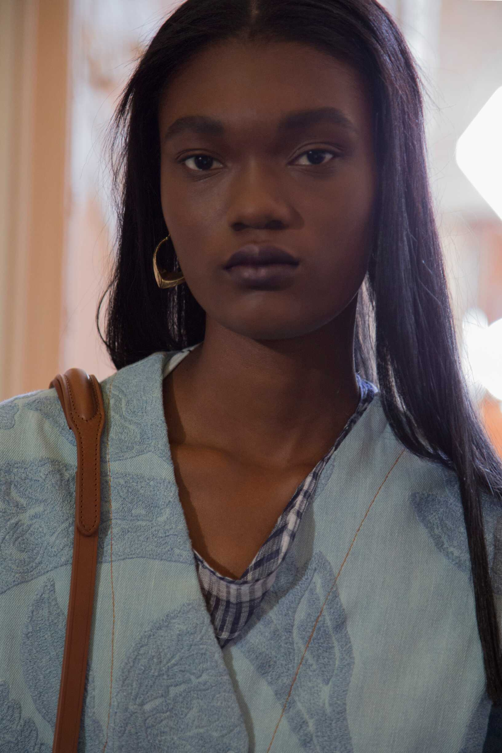 Backstage Acne Studios Fashion Show Model