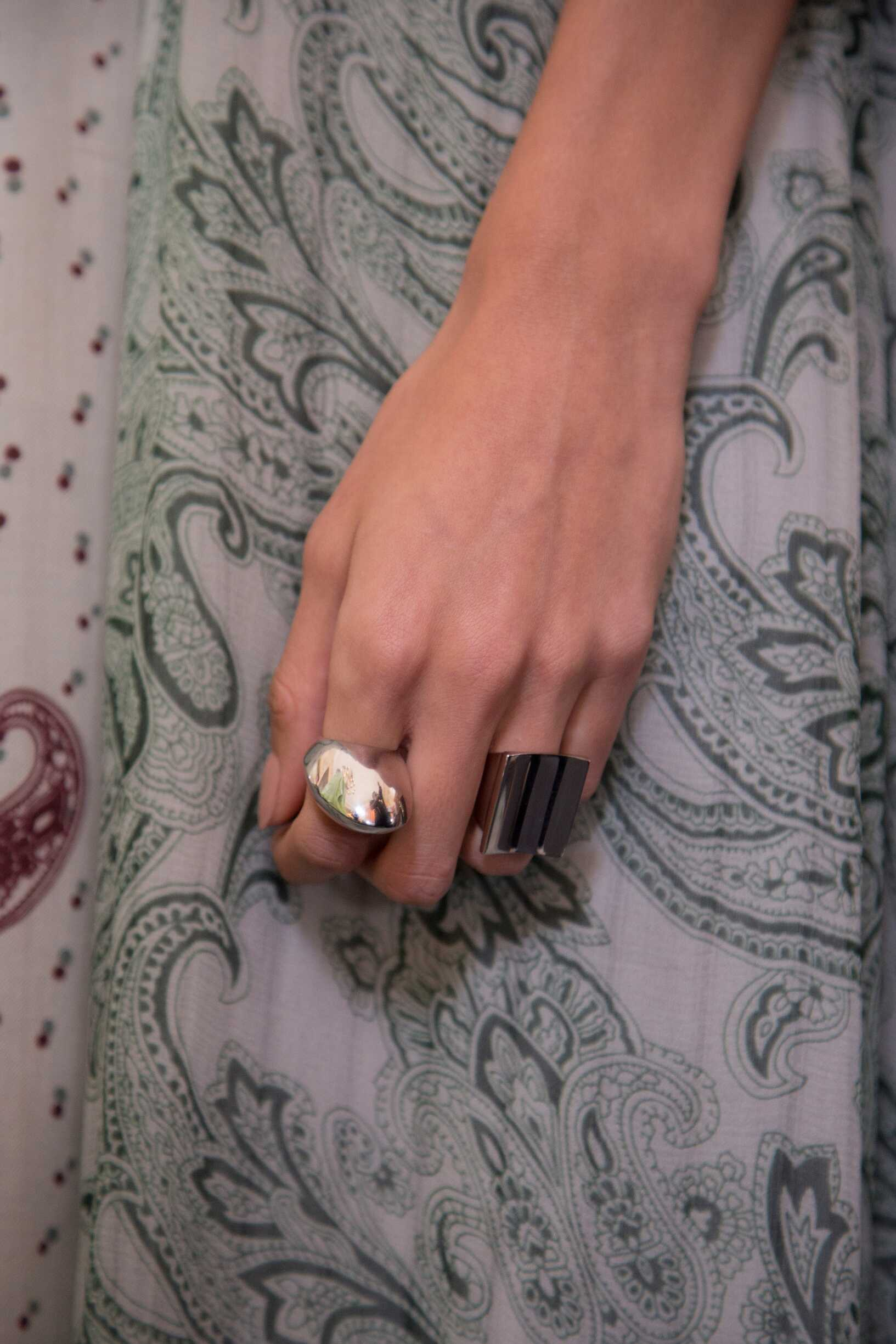 Backstage Acne Studios SS 2017 Rings Detail