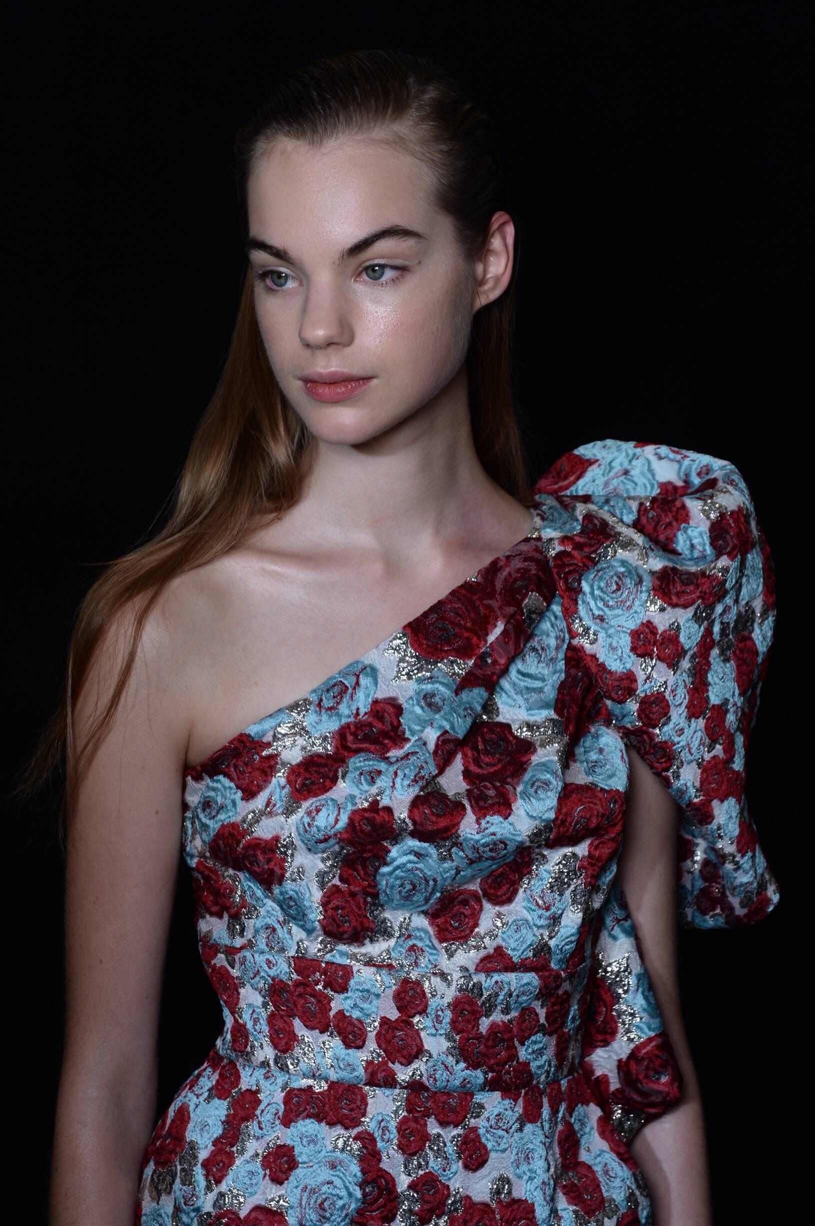 Backstage Emanuel Ungaro Paris Fashion week