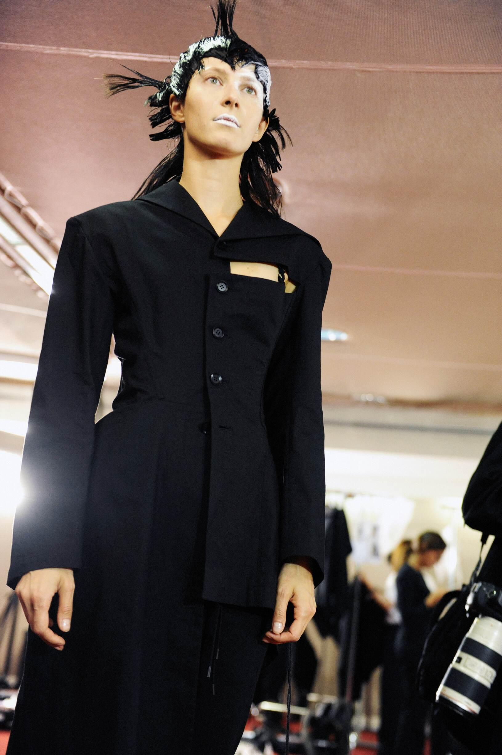 Backstage Yohji Yamamoto Fashion Show Model