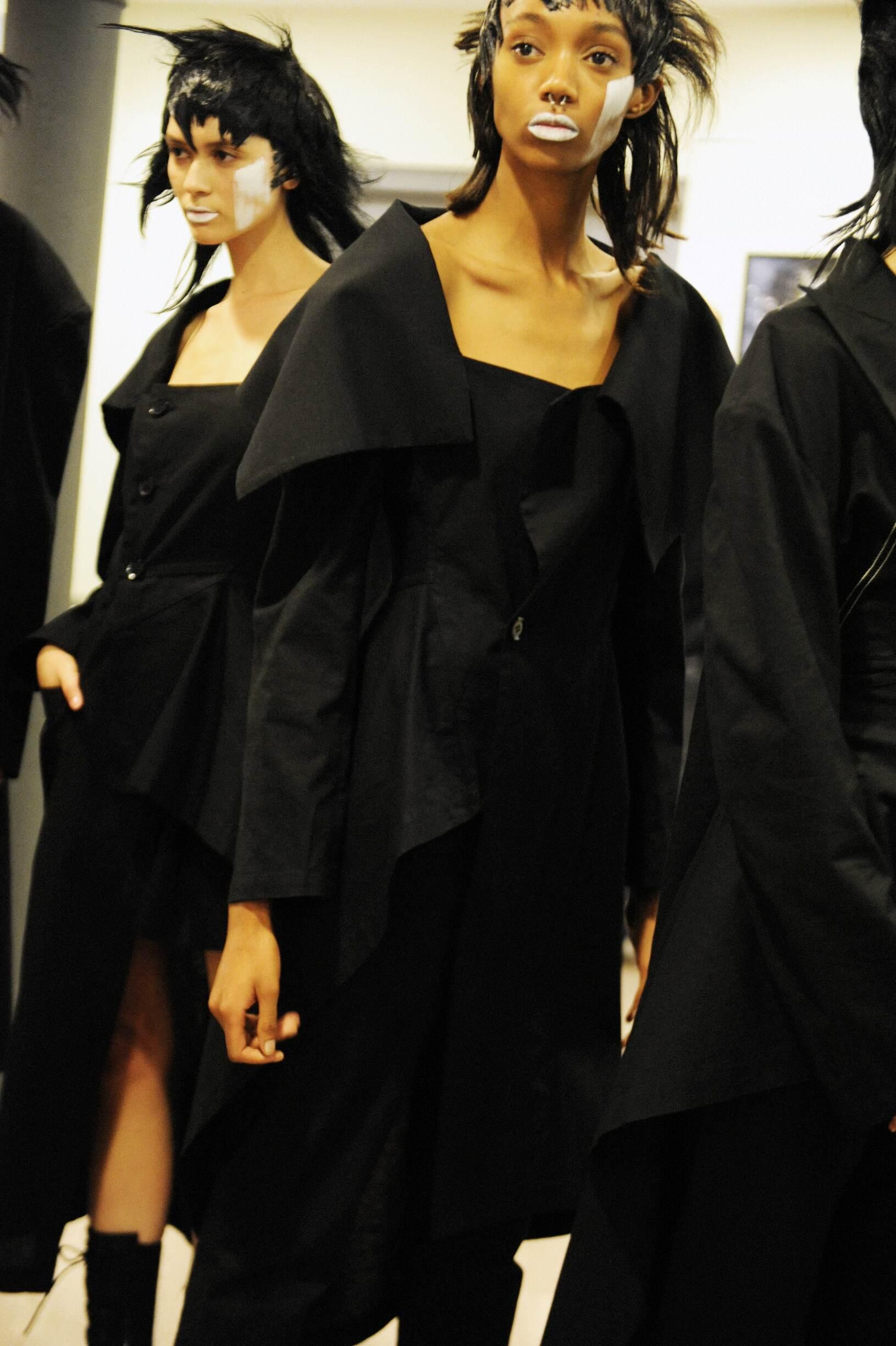 Backstage Yohji Yamamoto Fashion Show Womens
