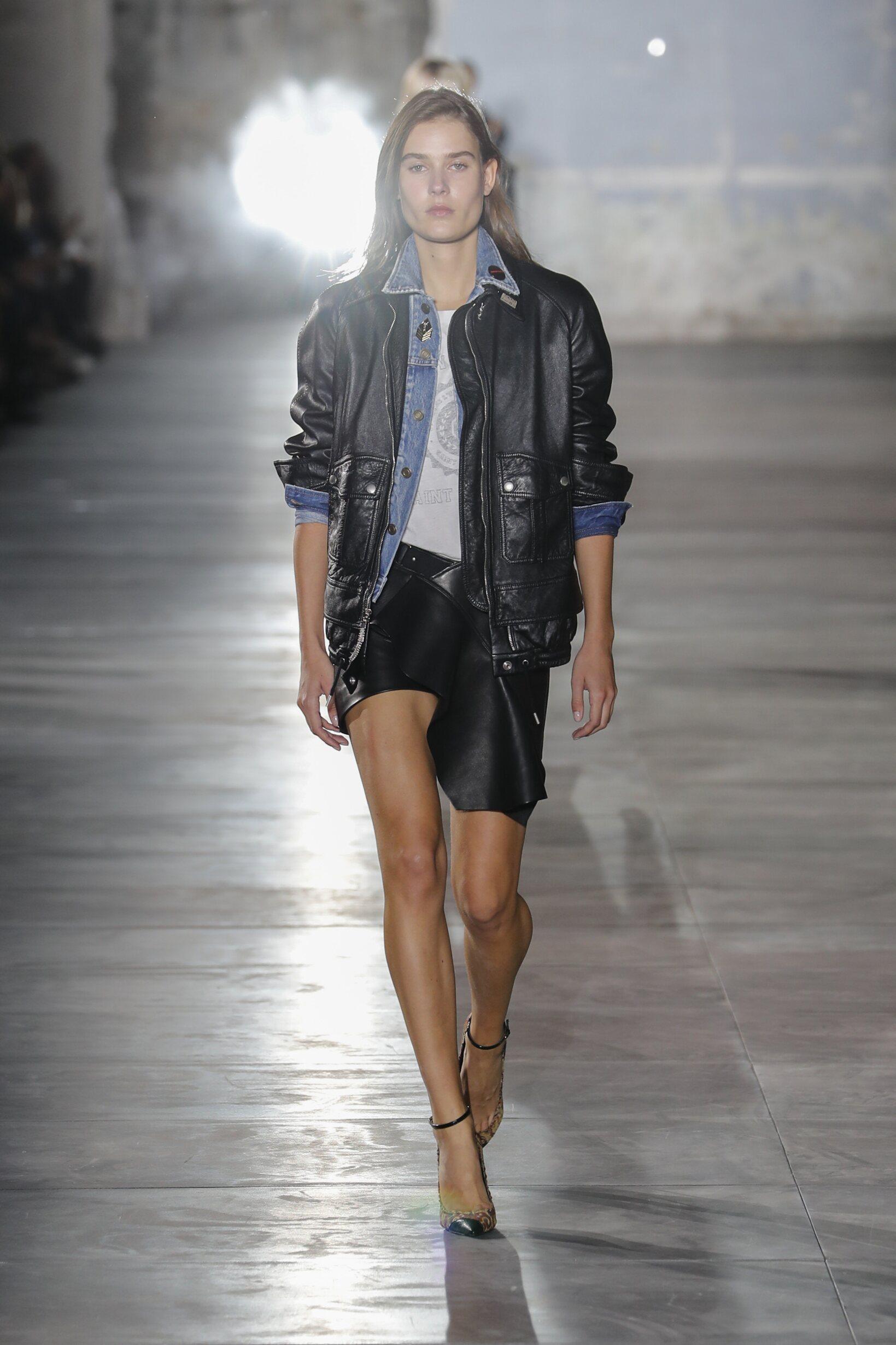 Catwalk Saint Laurent Woman Fashion Show Summer 2017