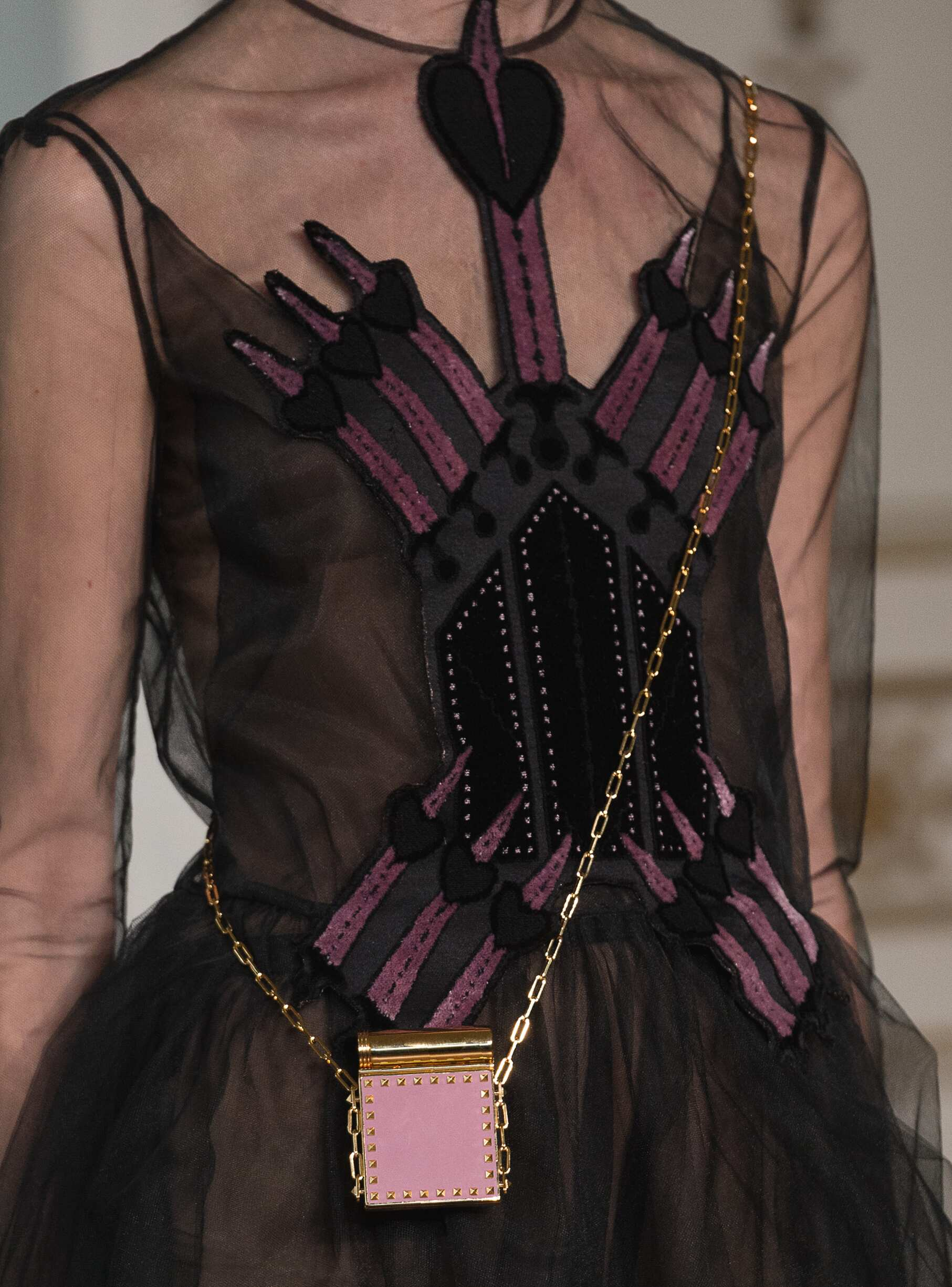 Detail Fashion Model Valentino Catwalk