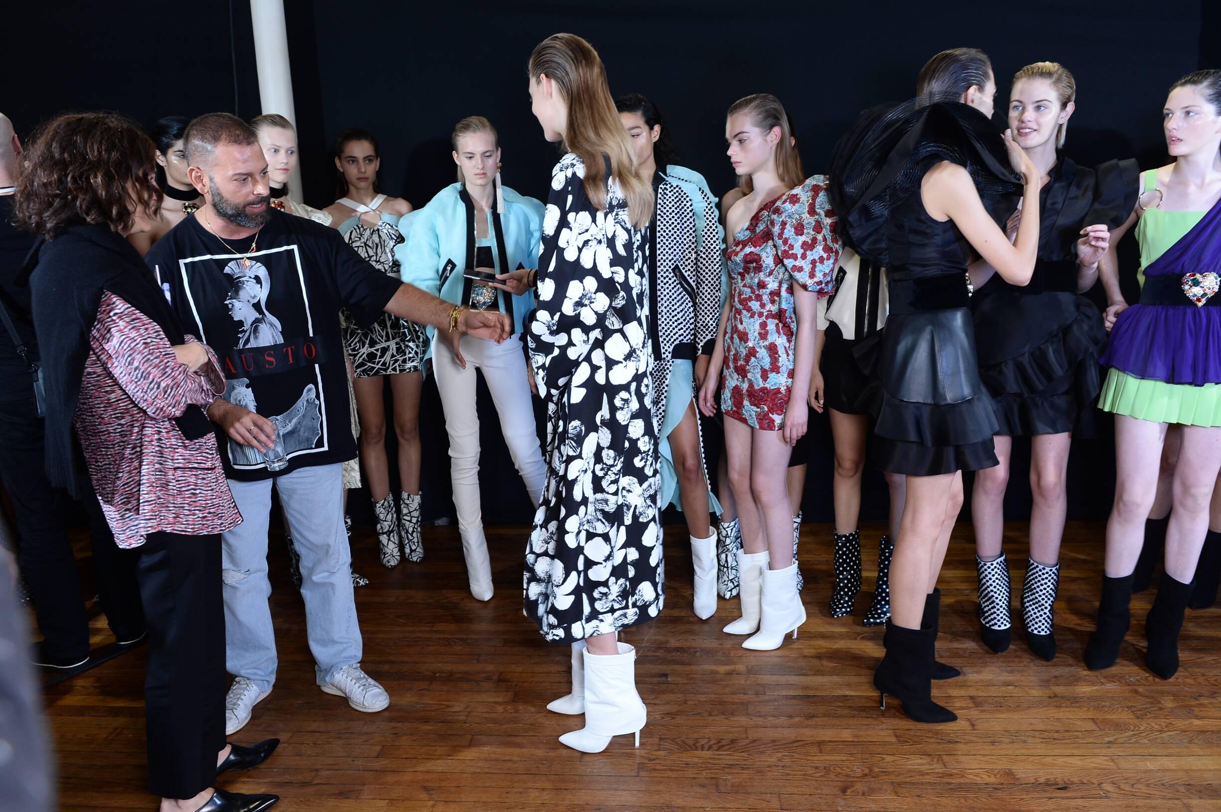 Emanuel Ungaro Backstage Models