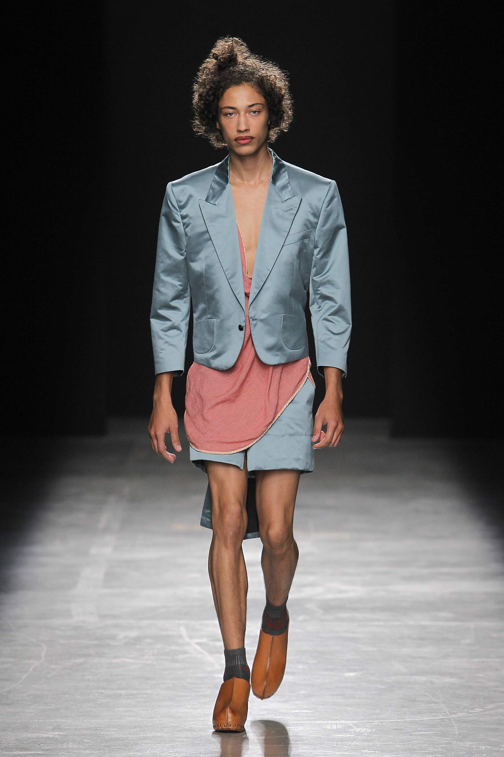 Fashion 2017 Catwalk Andreas Kronthaler for Vivienne Westwood Summer Mens Collection