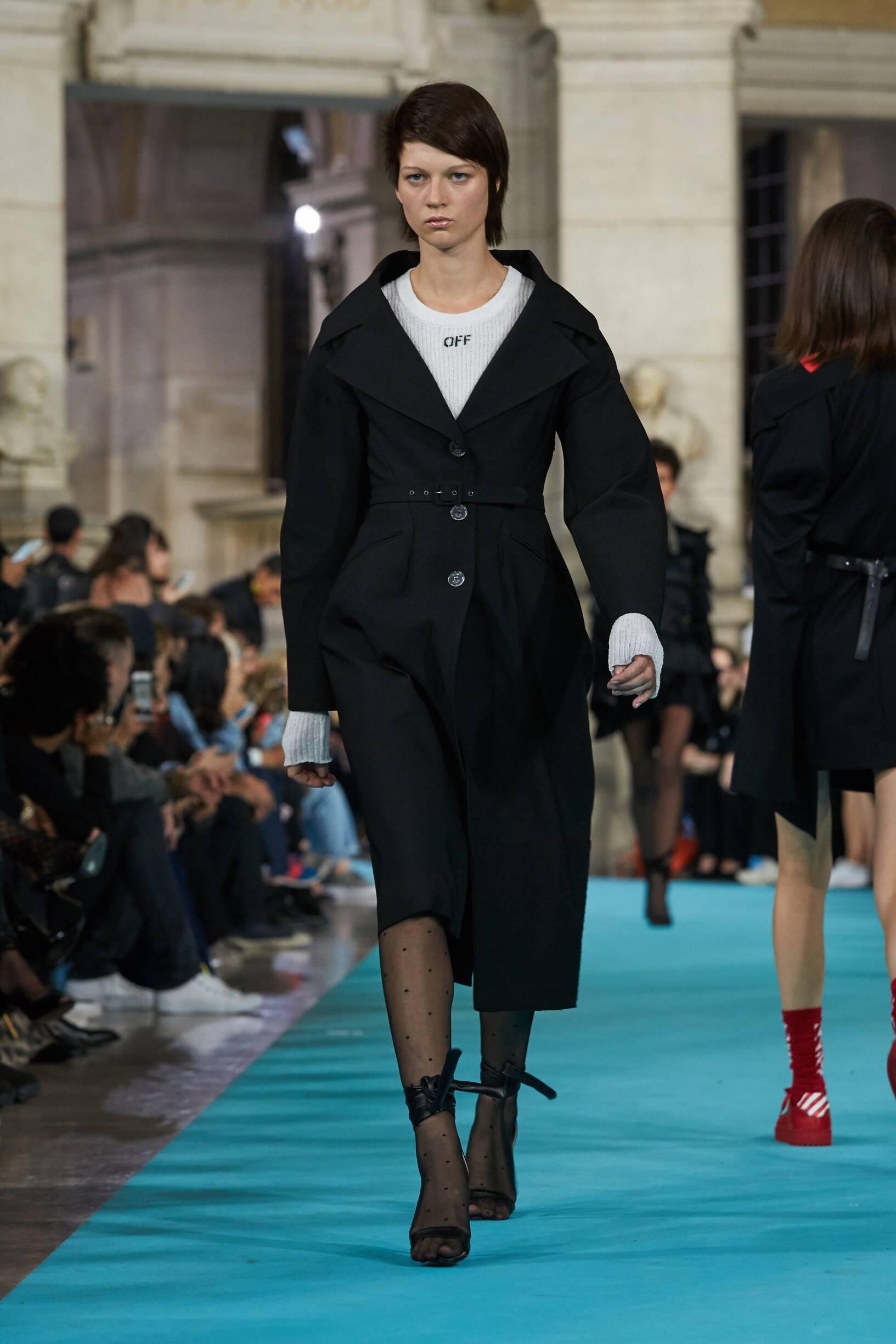 Fashion Model Off-White Catwalk