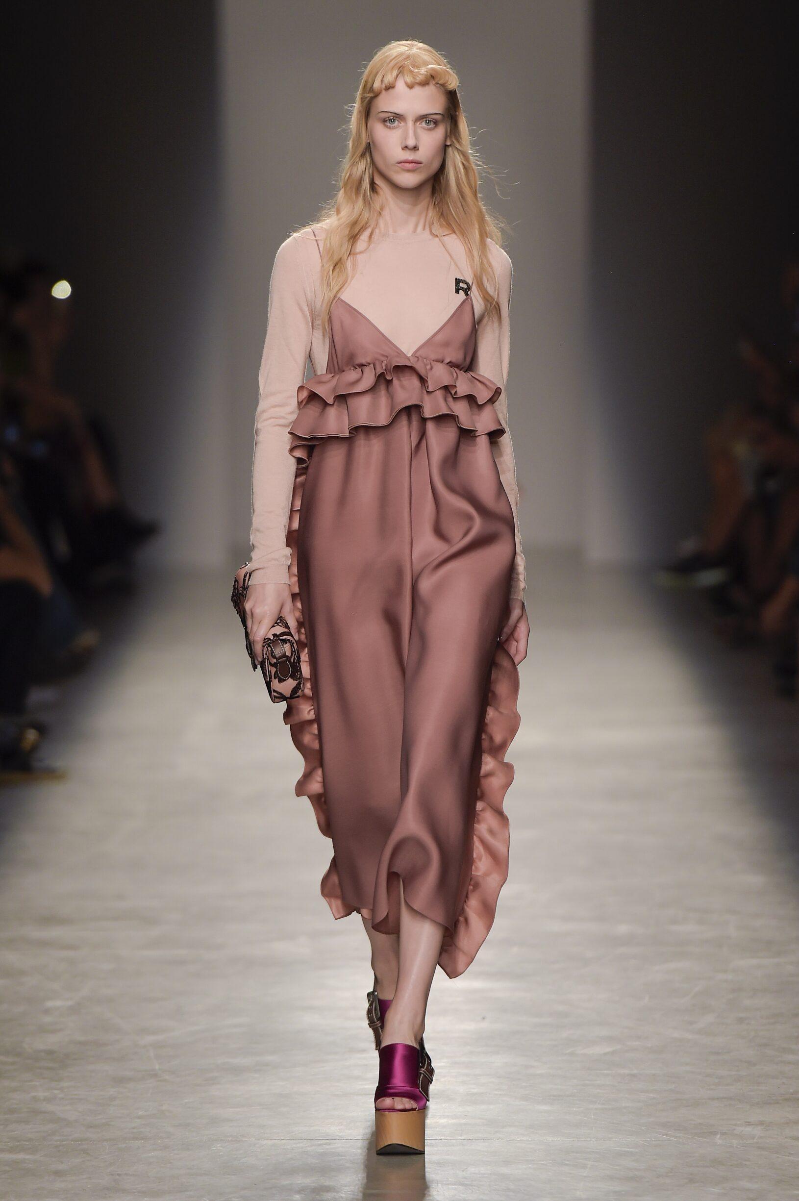 Fashion Model Rochas Catwalk