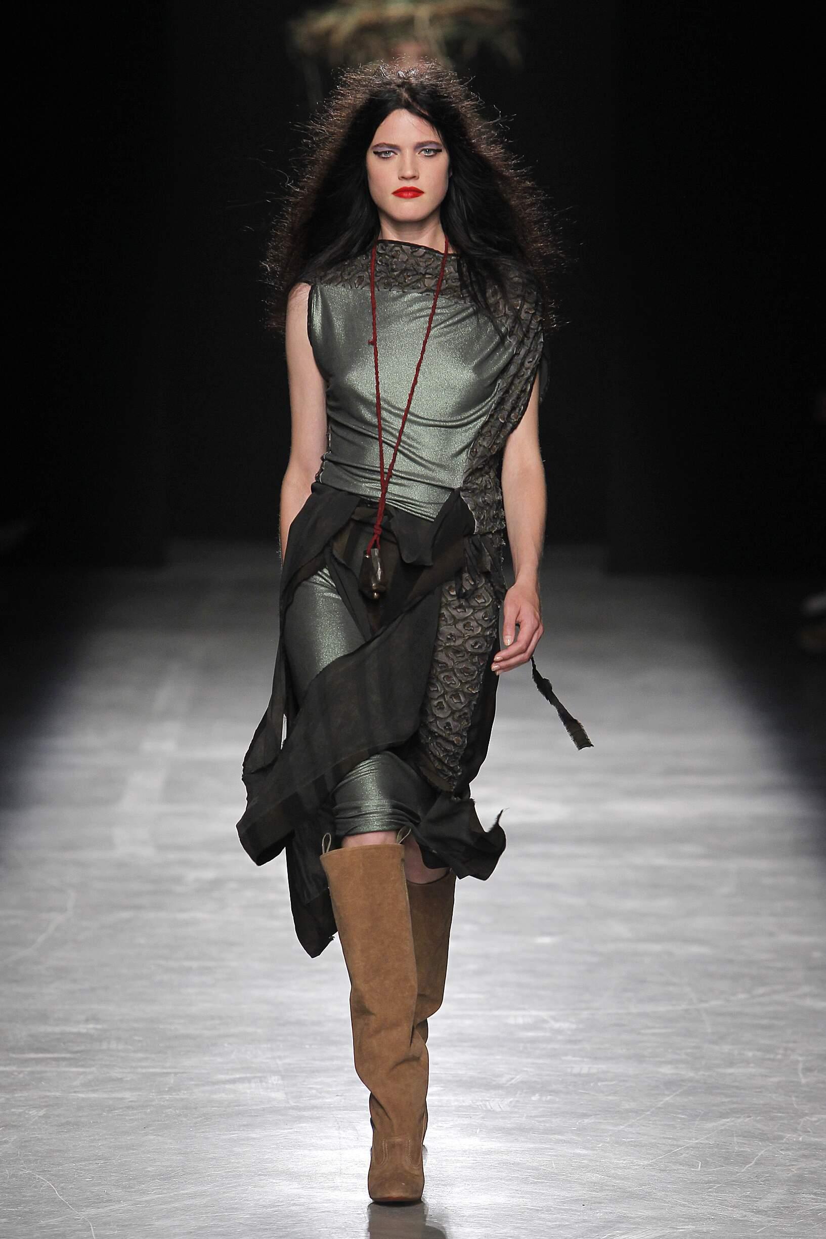 Fashion Woman Model Andreas Kronthaler for Vivienne Westwood Catwalk