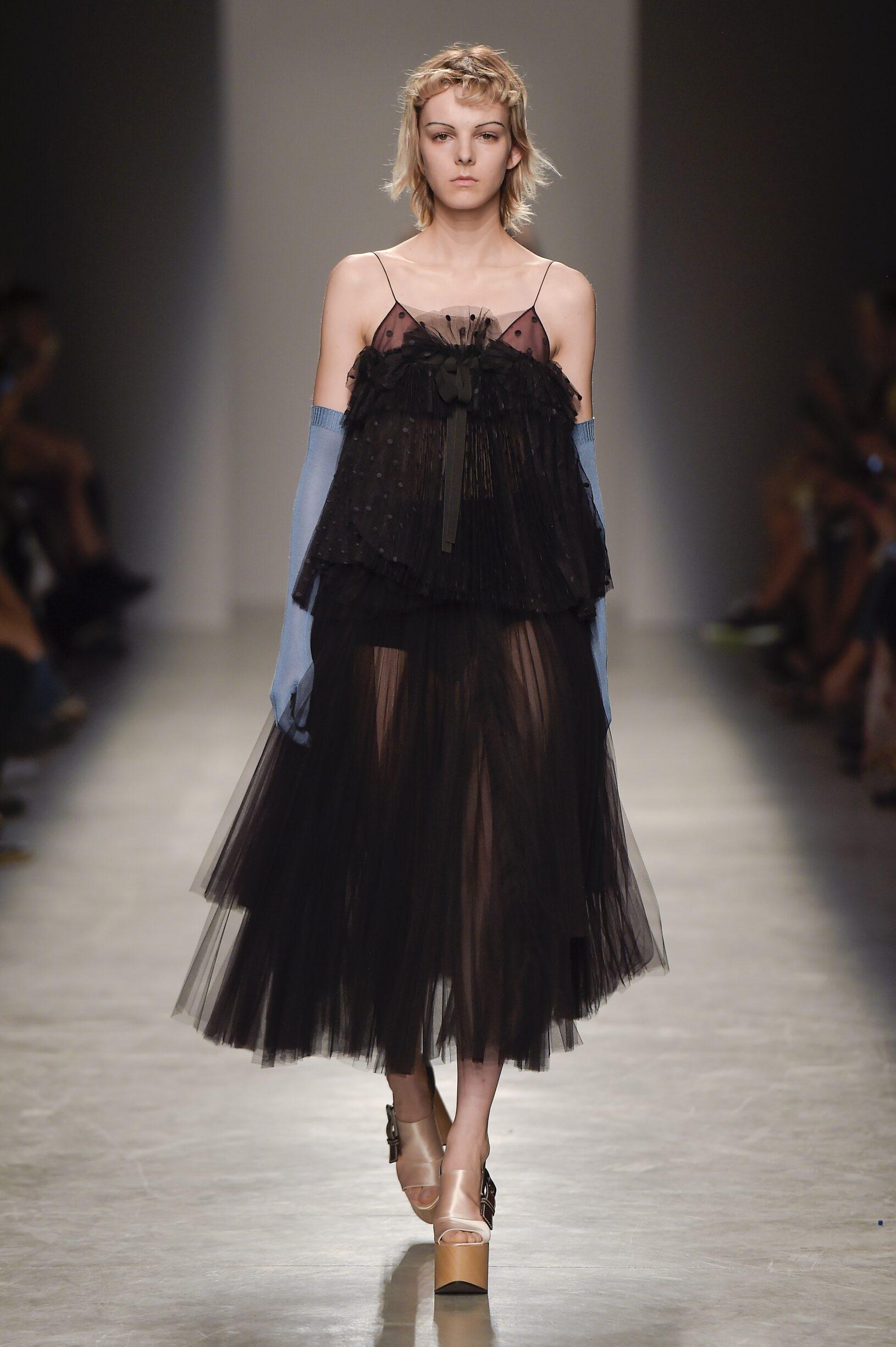 Fashion Woman Model Rochas Catwalk