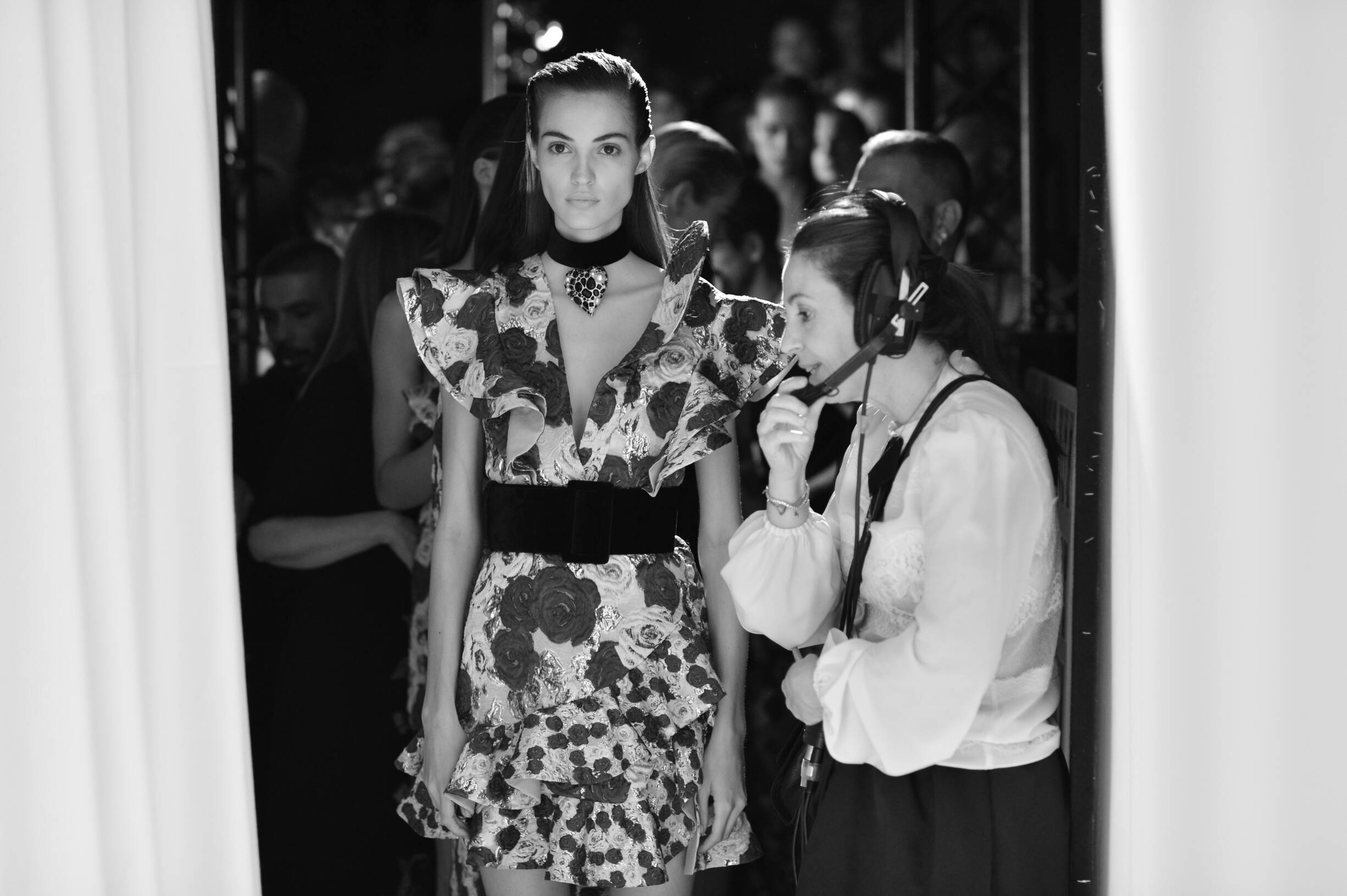 Model Emanuel Ungaro Backstage Womenswear