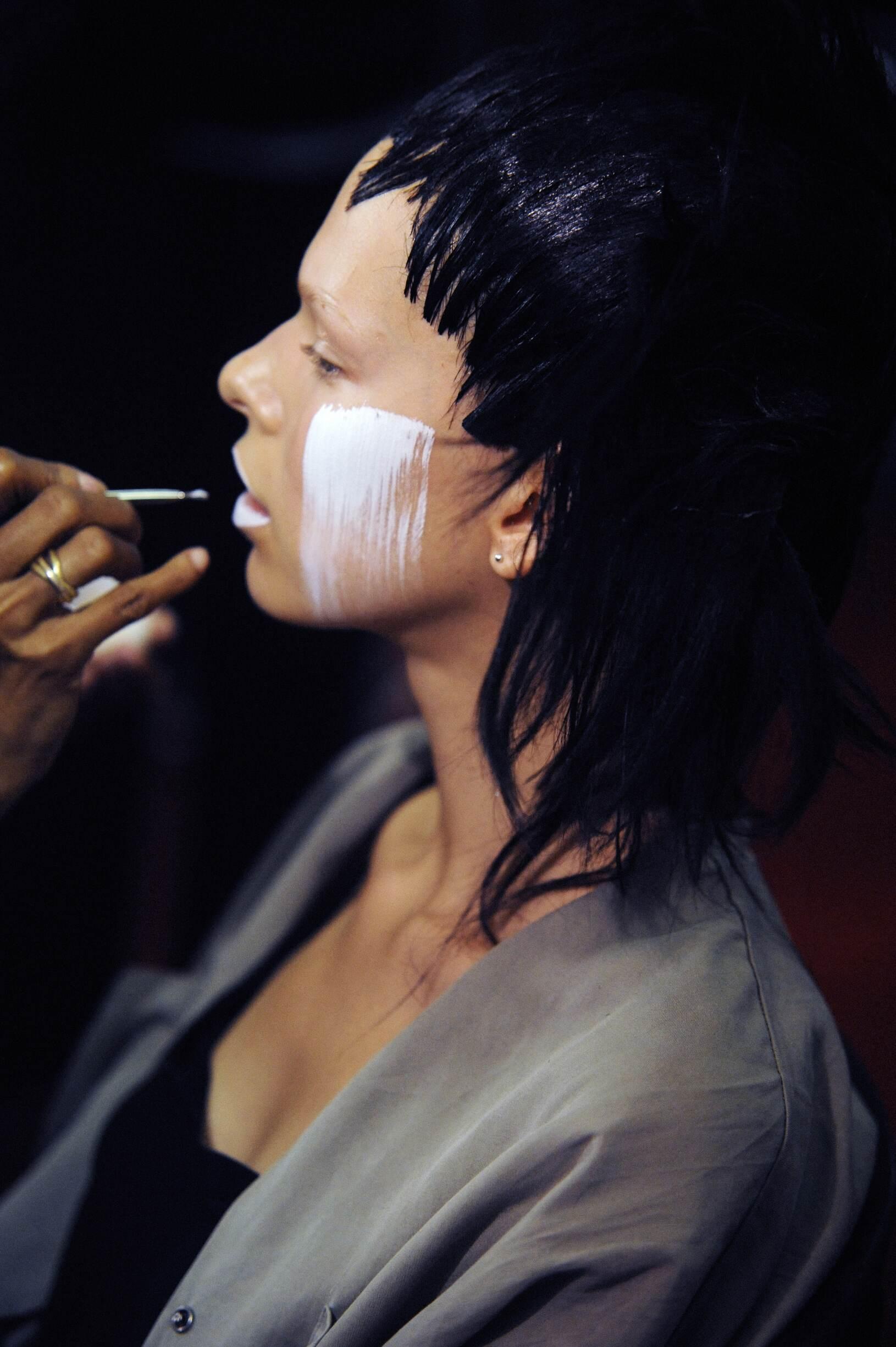 Yohji Yamamoto Backstage Fashion Model Make Up