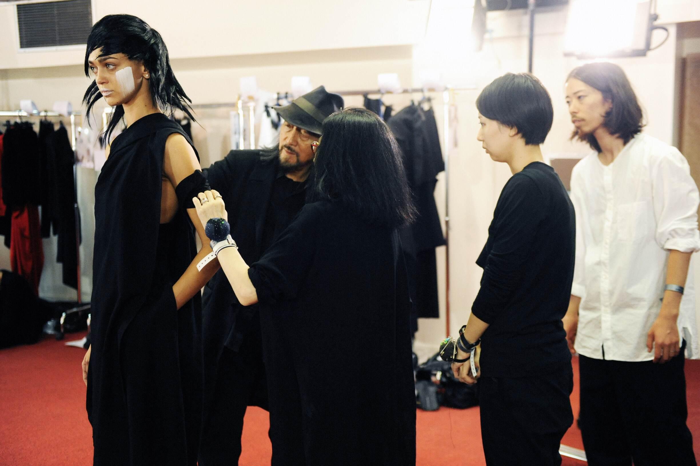 Yohji Yamamoto and Model
