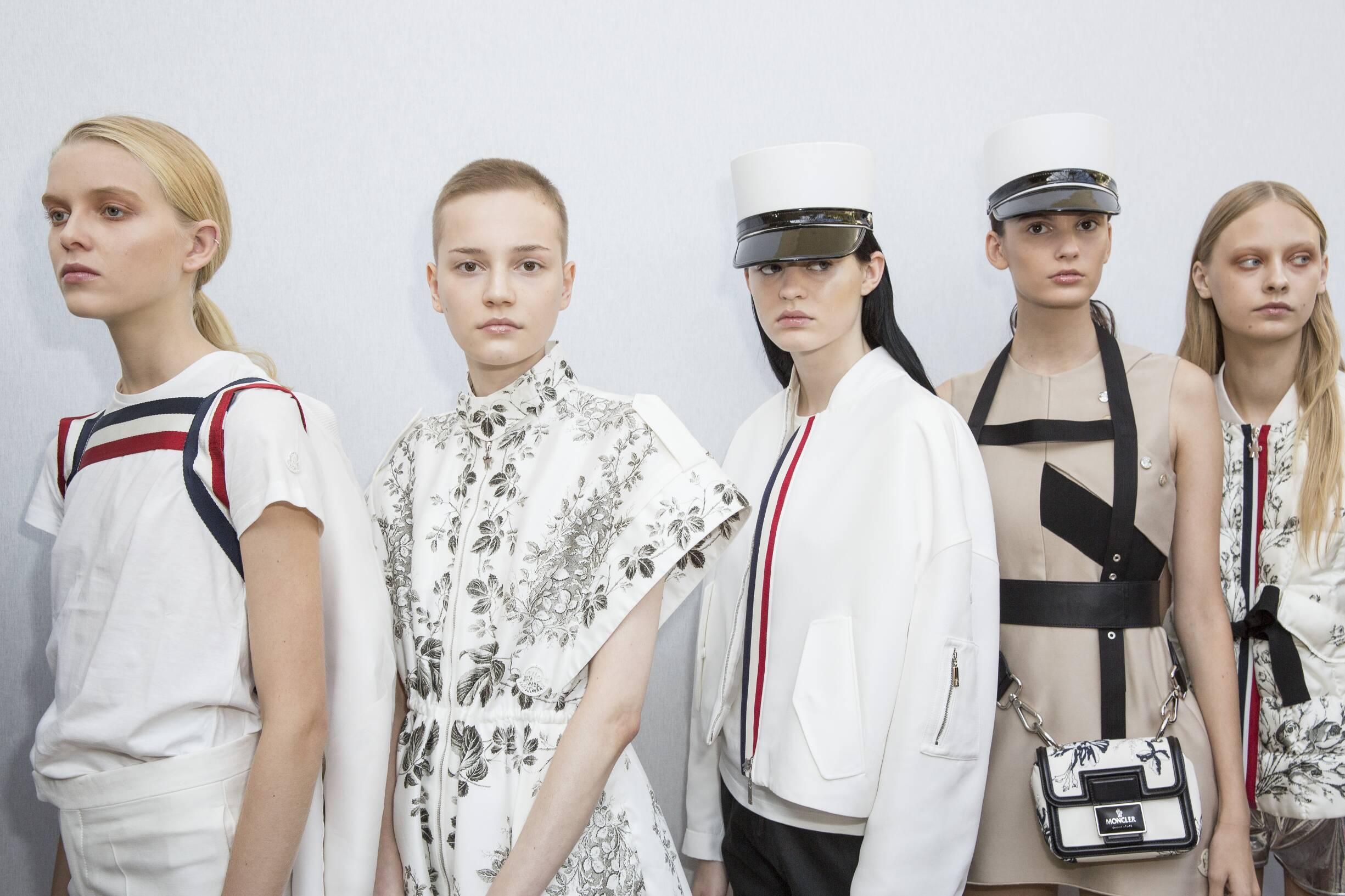 Fashion Models Moncler Gamme Rouge Womenswear Backstage