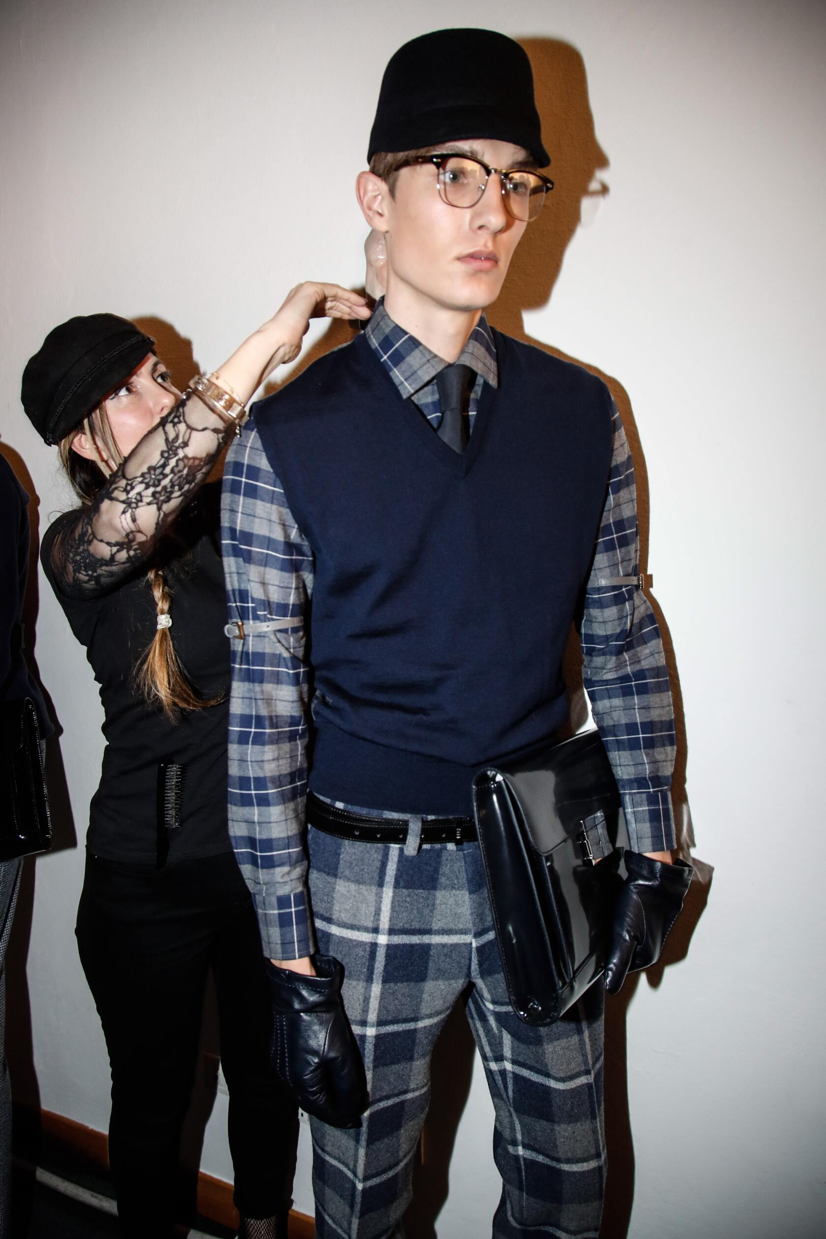 Backstage Daks Fashion Show Man