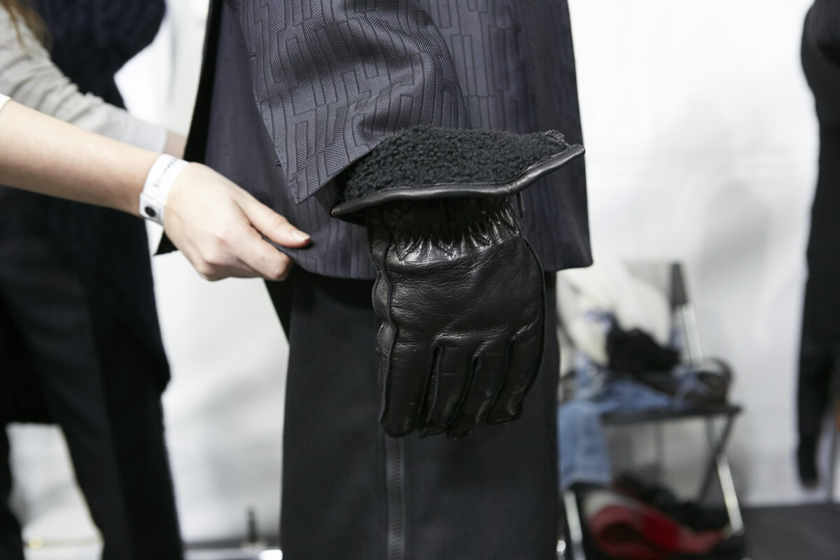 Backstage Ermenegildo Zegna Fashion Man Detail