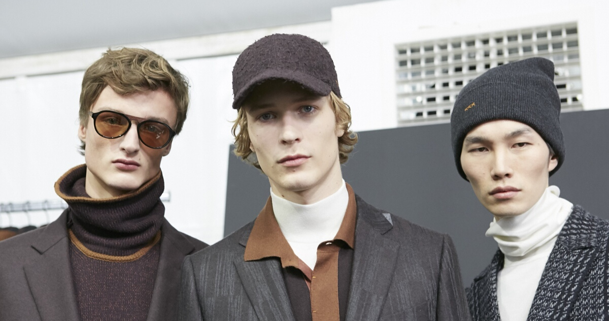 Backstage Ermenegildo Zegna Men Models Milan Fashion Week
