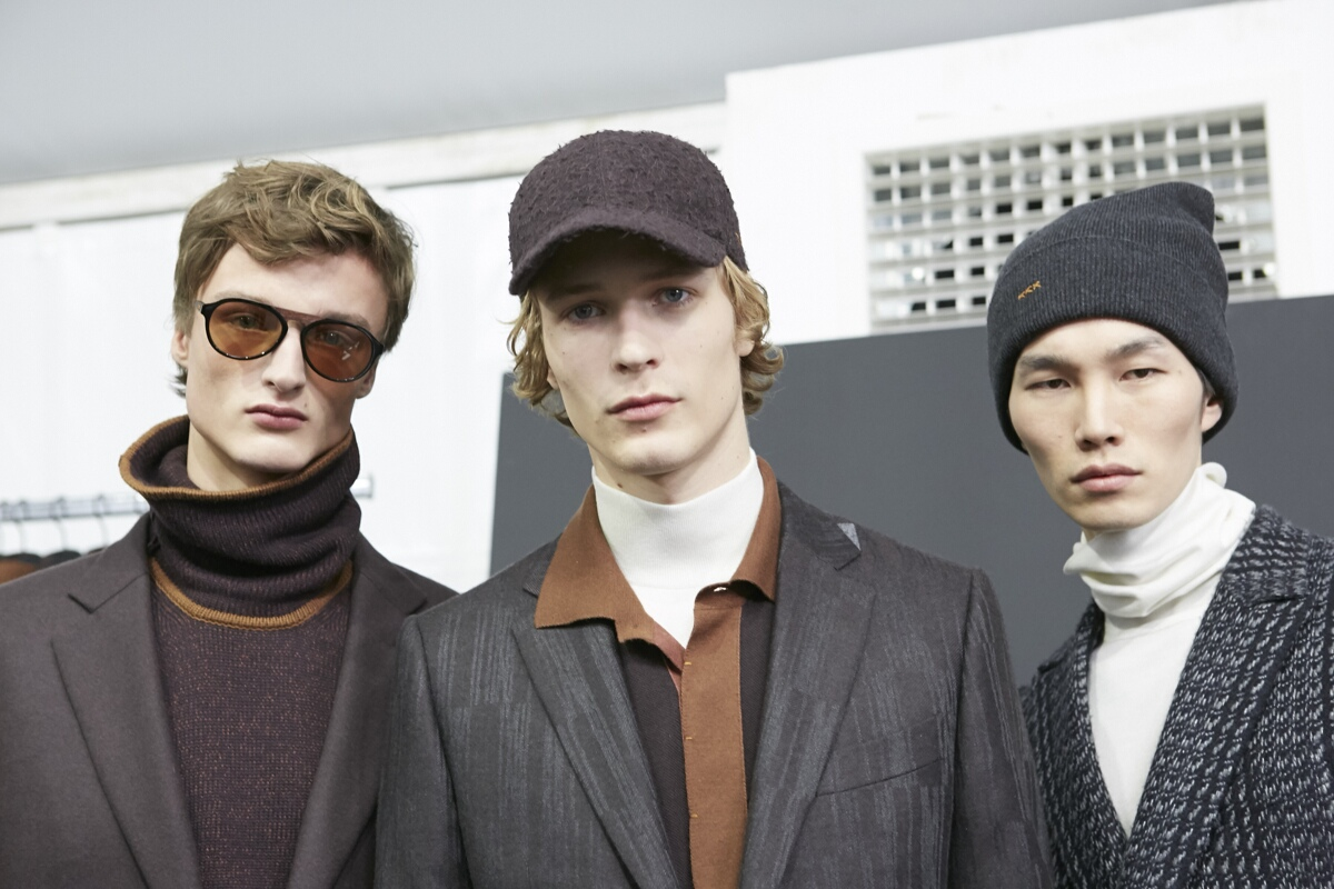 Backstage Ermenegildo Zegna Men Models Milan