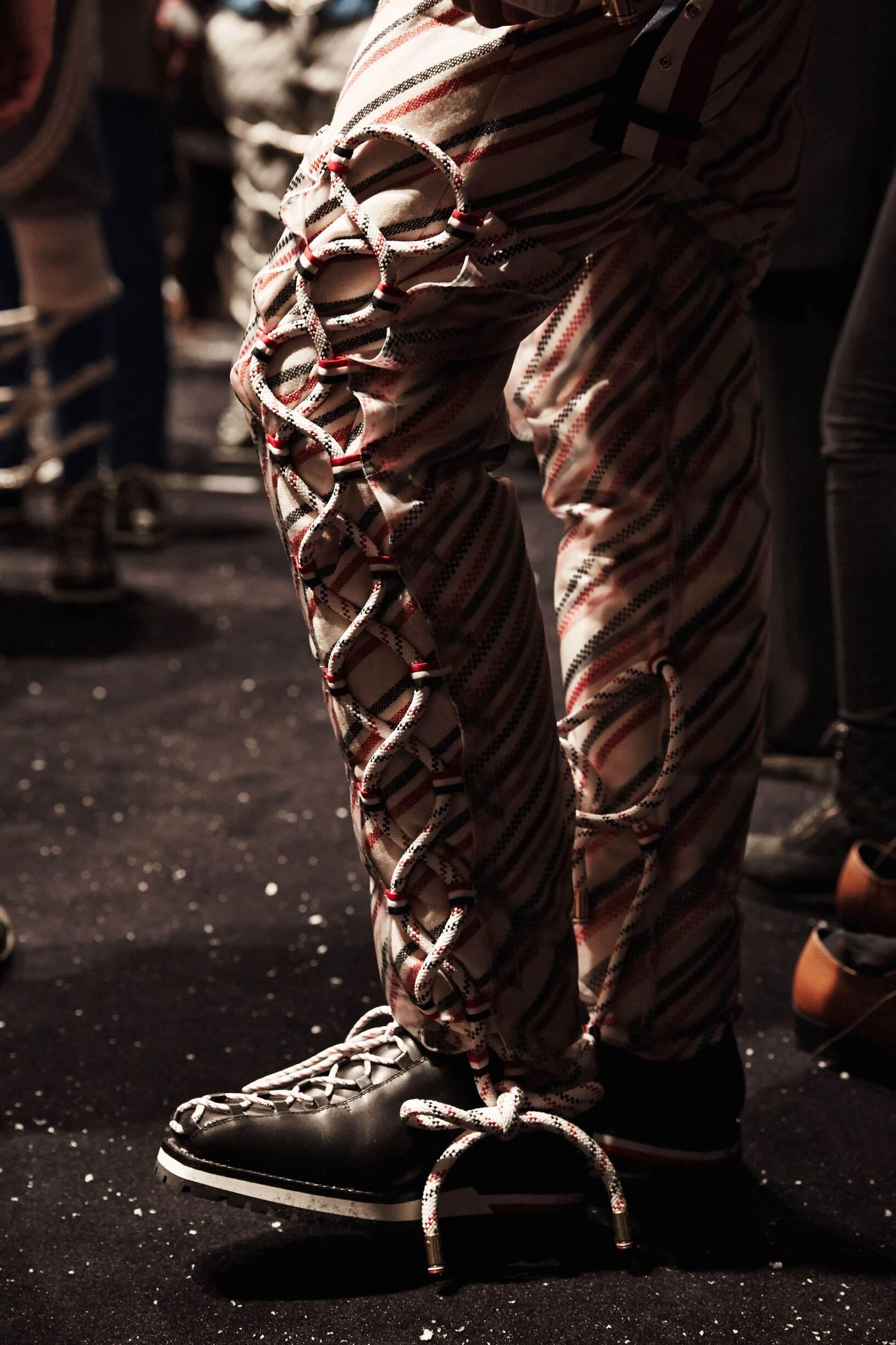 Backstage Models Moncler Gamme Bleu Detail