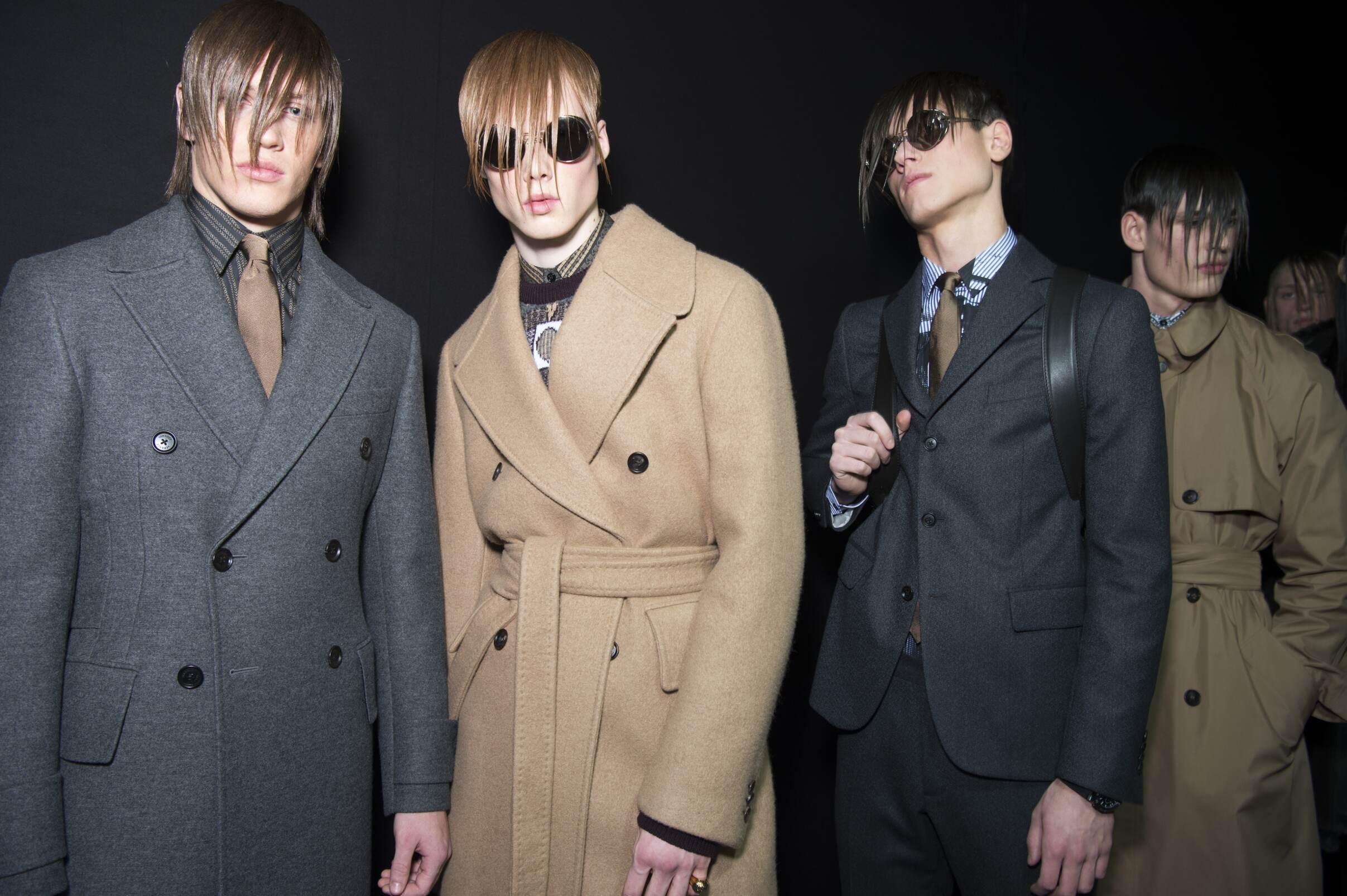 Backstage Versace Fashion Models Milan