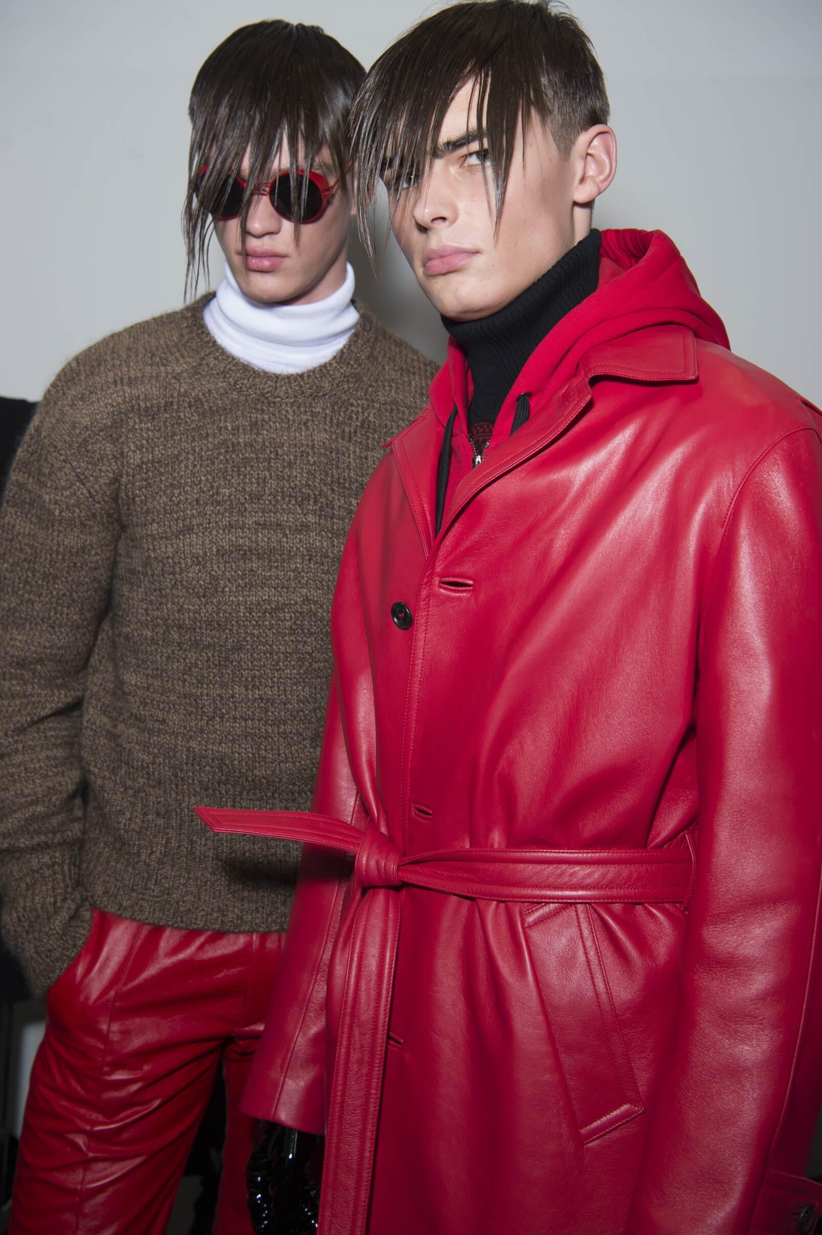 Backstage Versace Fashion Show Model