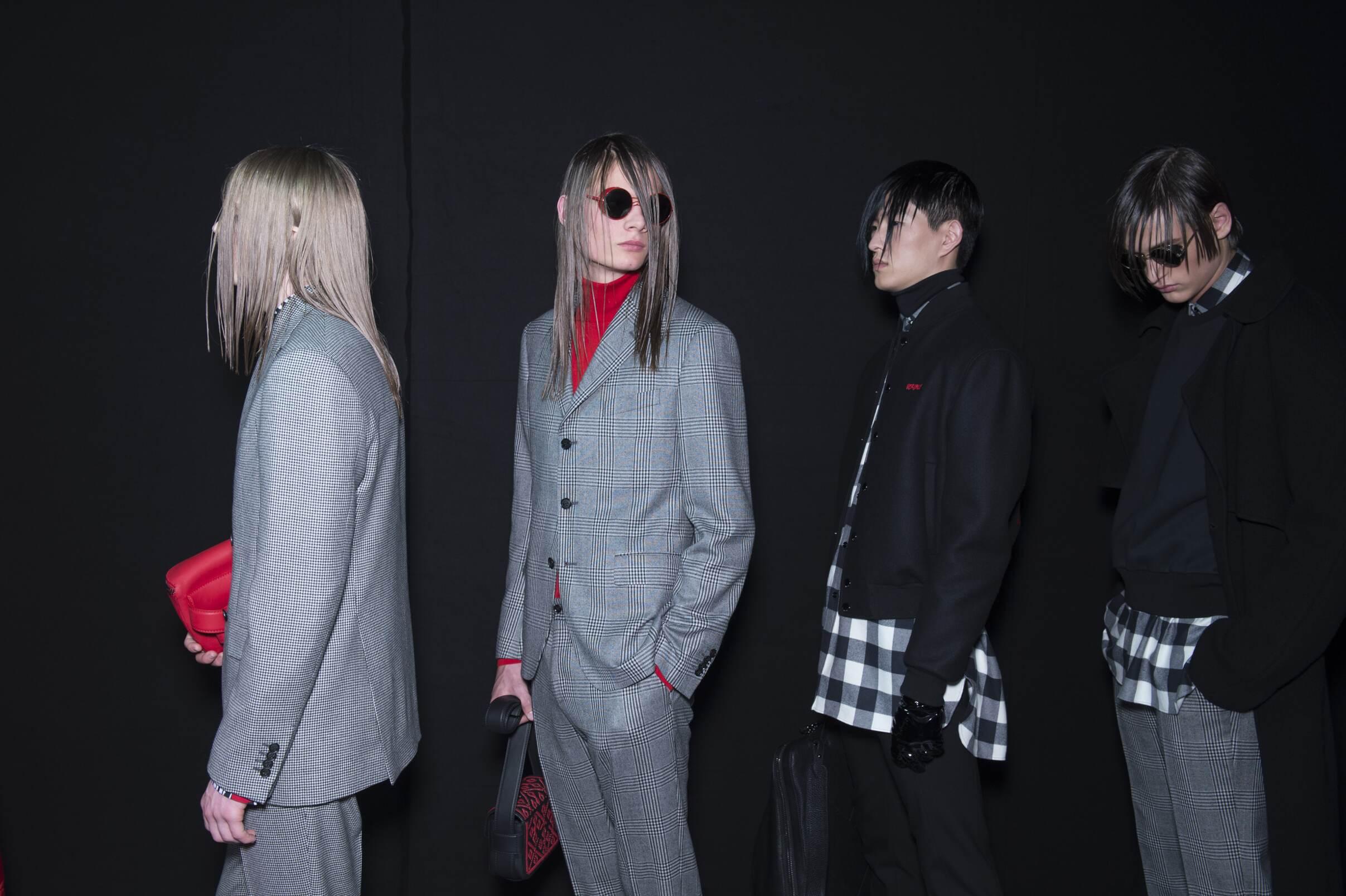 Backstage Versace Men Models