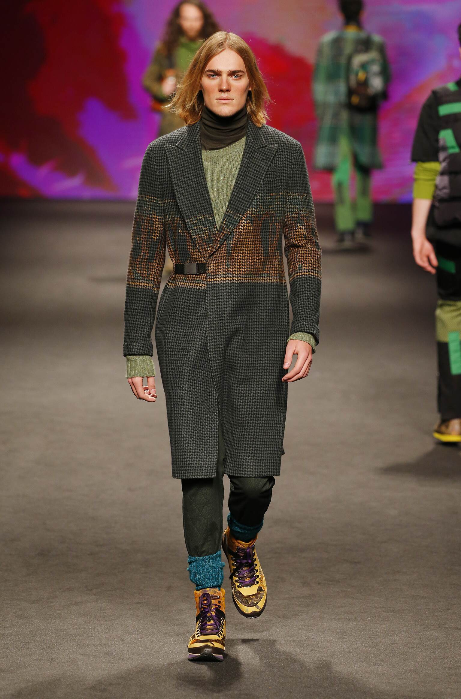Catwalk Etro Man Fashion Show Winter 2017