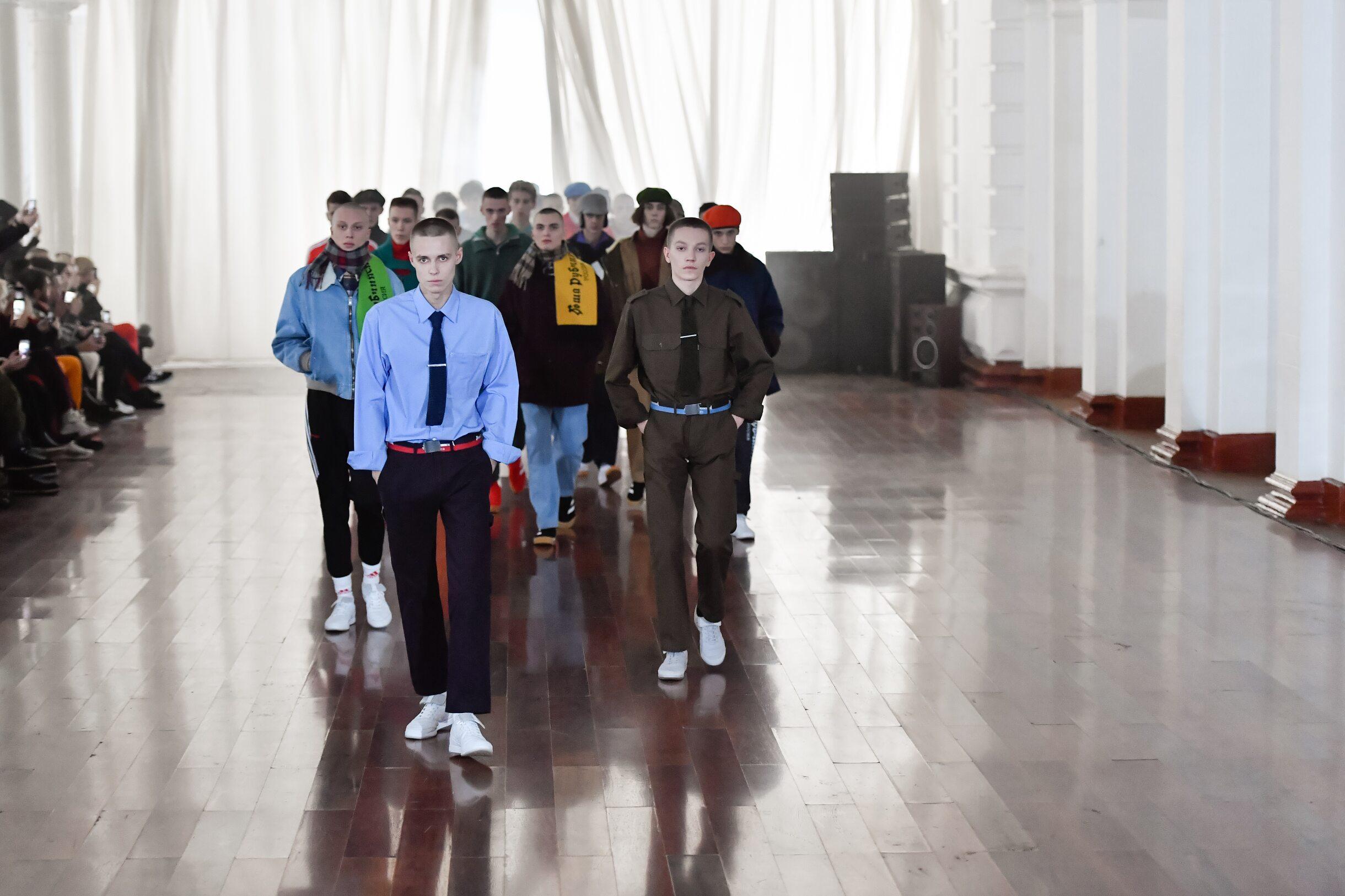 Catwalk Finale Gosha Rubchinskiy