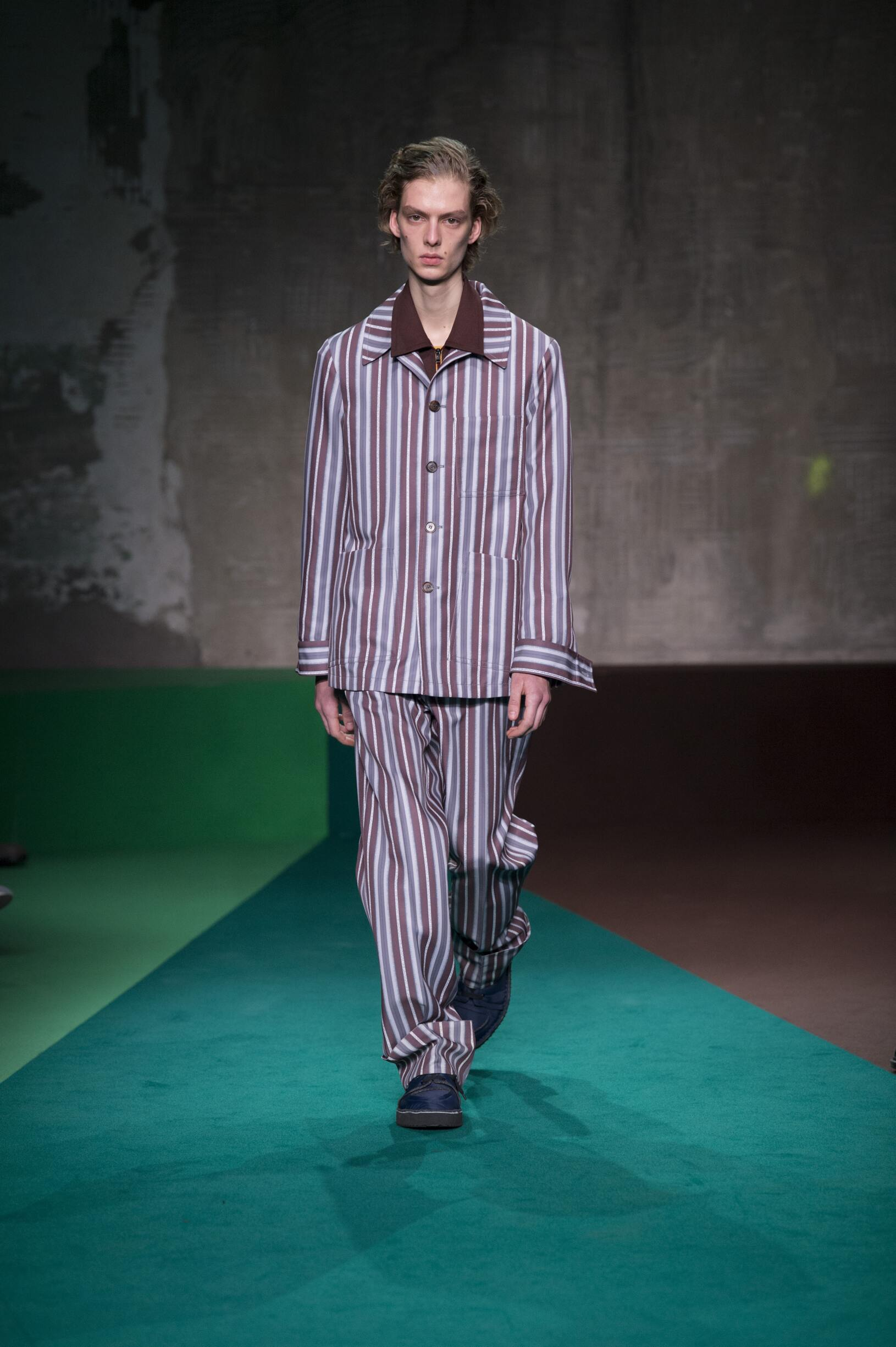 Catwalk Marni Man Fashion Show Winter 2017