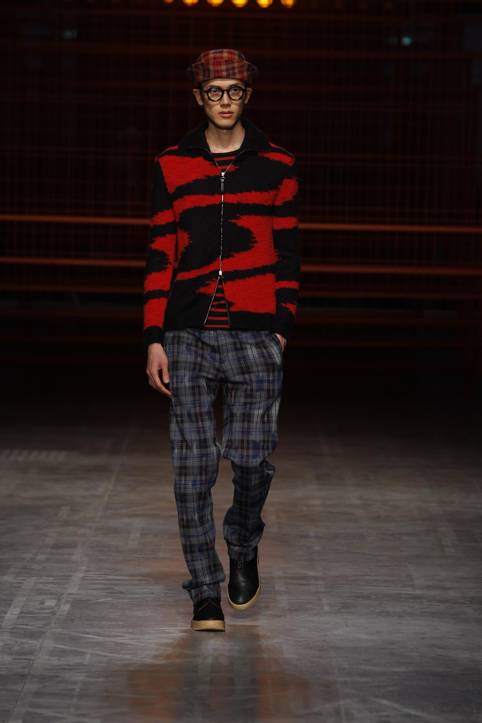 Catwalk Missoni Man Fashion Show Winter 2017